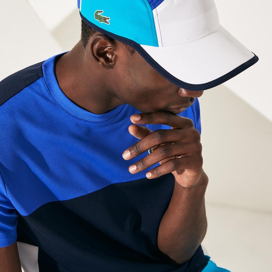 Men S Lacoste Sport Lightweight Colourblock Tennis Cap Lacoste