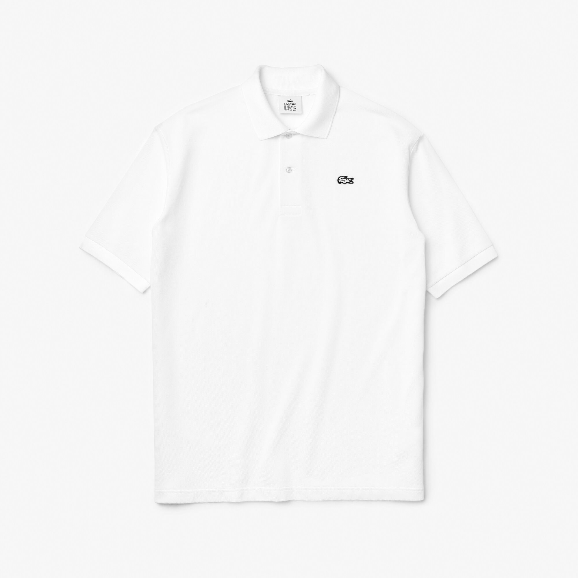 Men's Lacoste LIVE Loose Fit Cotton Piqué Polo Shirt