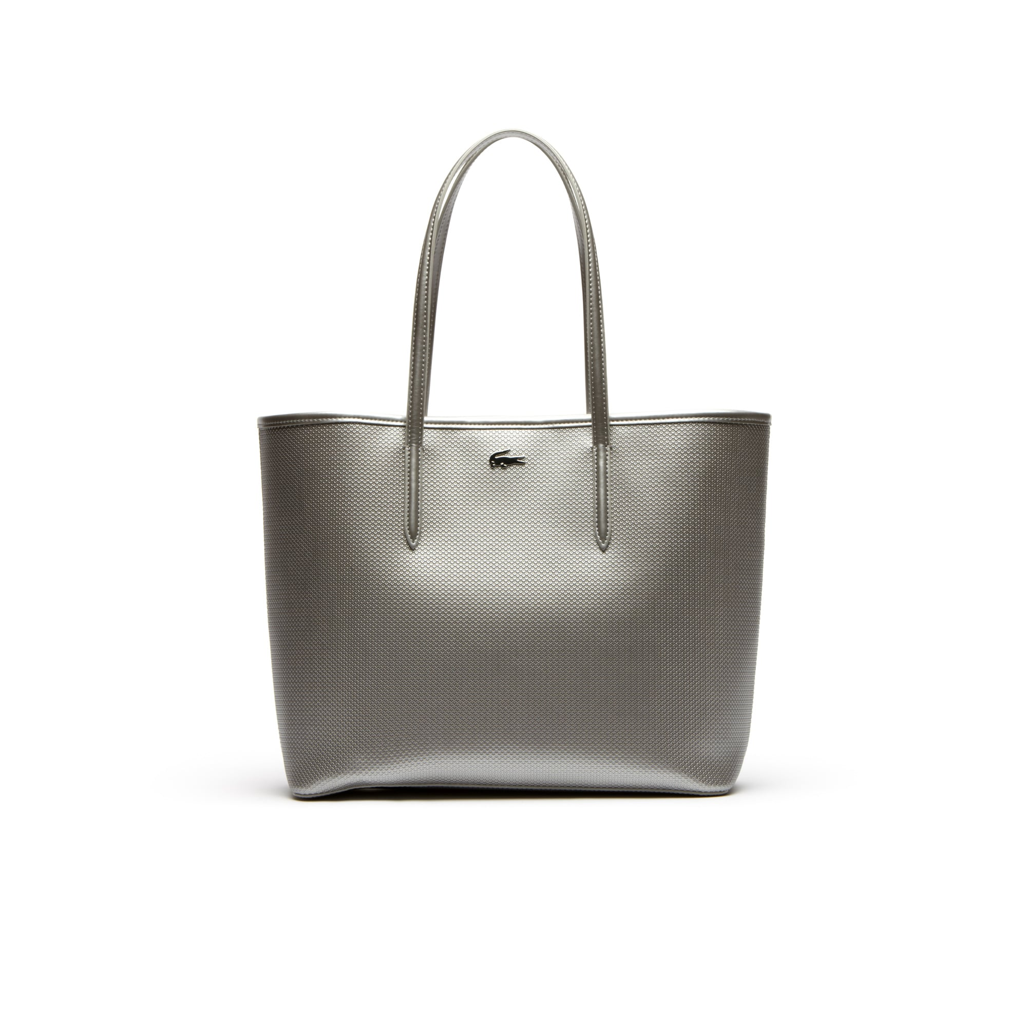 Chantaco tote bag in gold or silver piqué leather