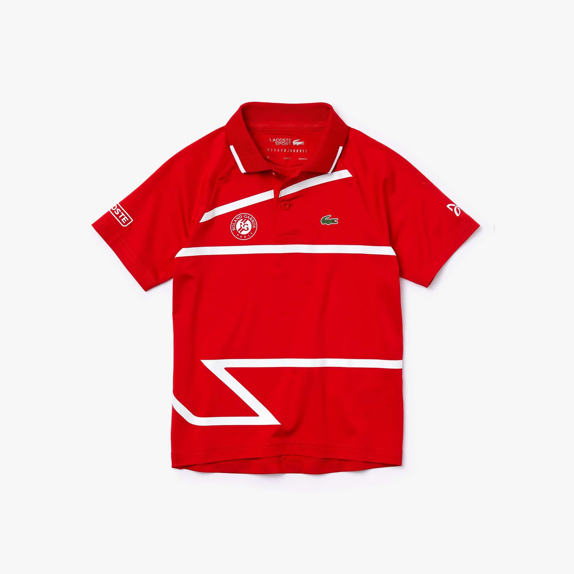 Boys Lacoste Sport Roland Garros X Novak Djokovic Polo Shirt Lacoste
