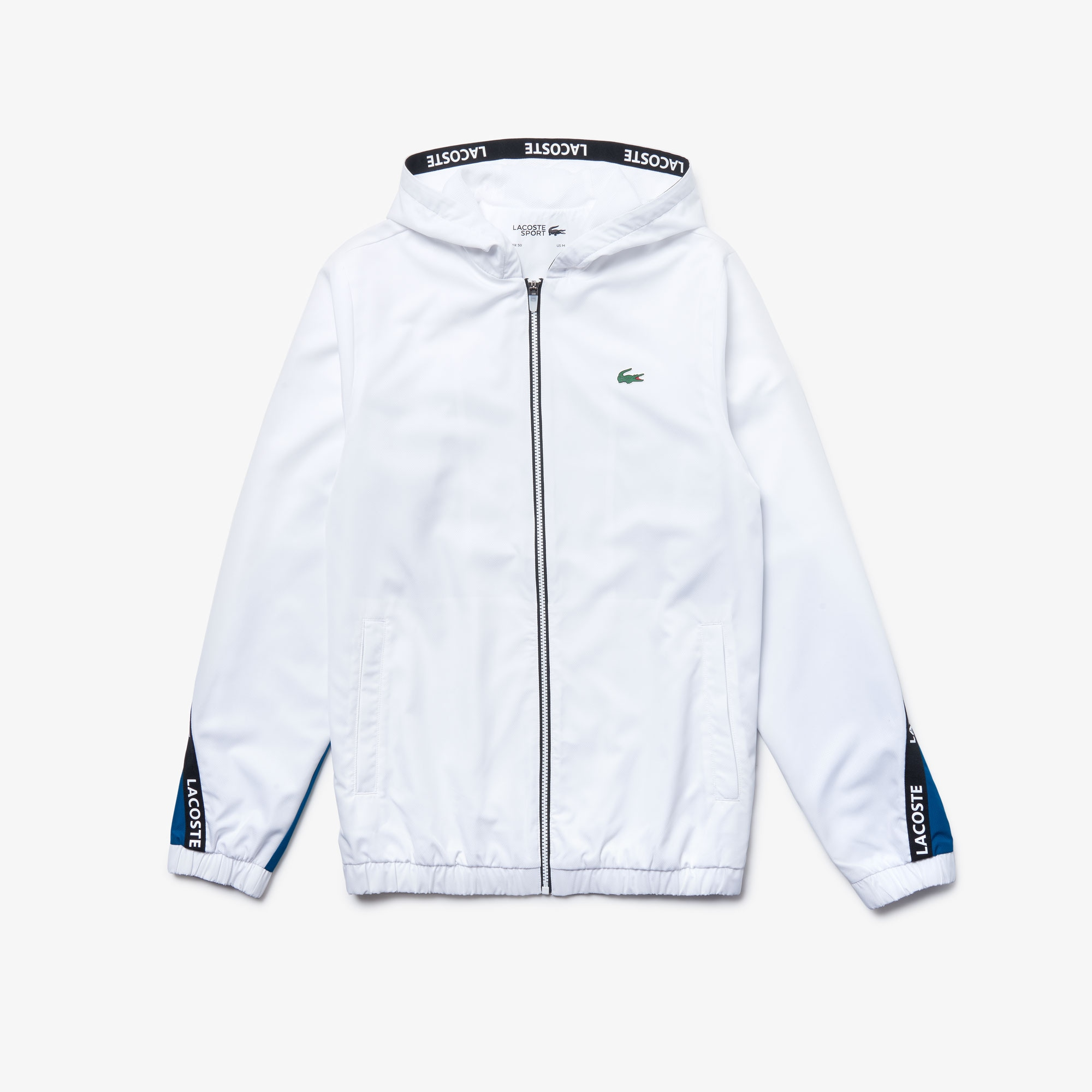 Men's Lacoste SPORT Signature Bands Bicolour Sweat Jacket