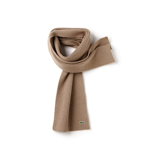 Men's Ribbed Wool Scarf