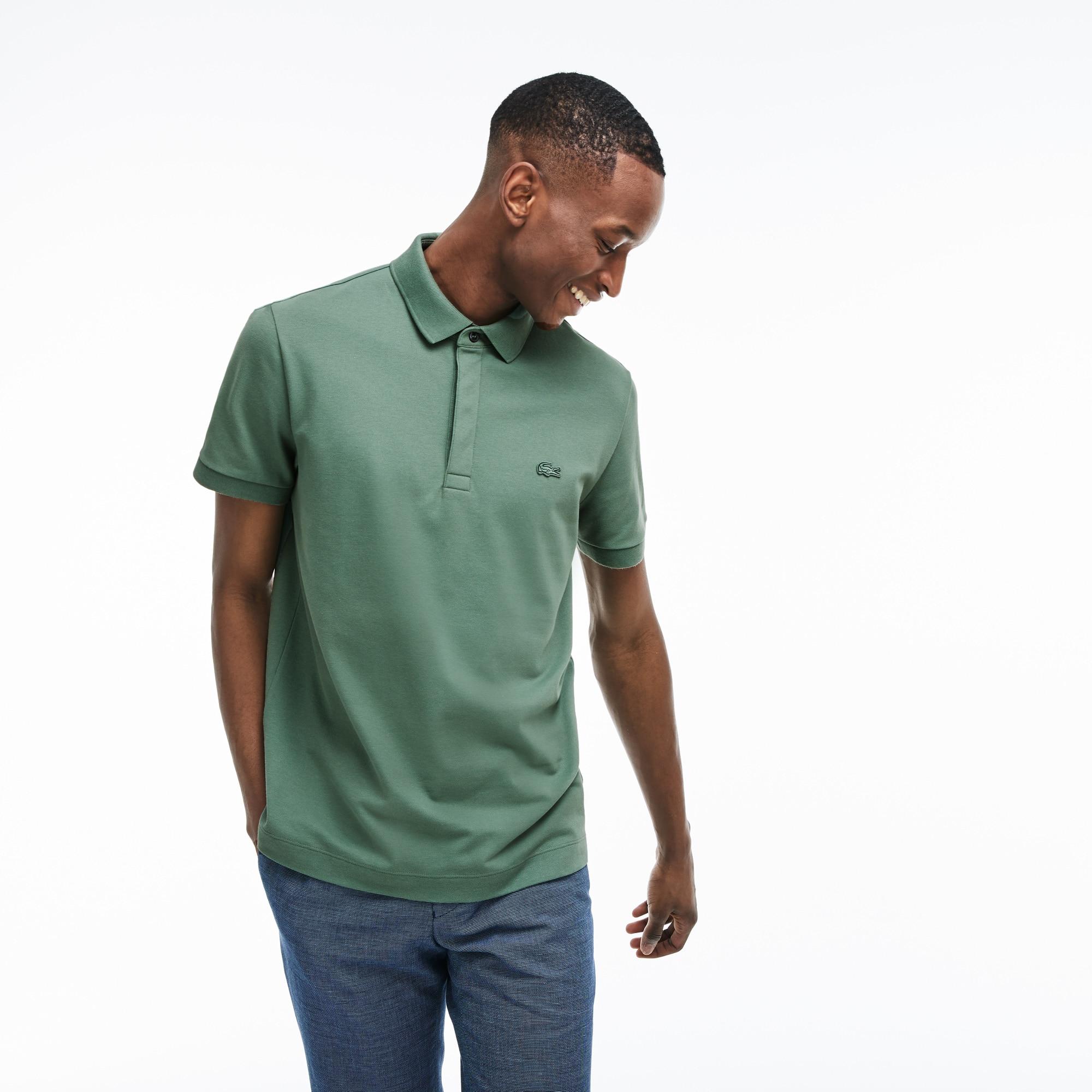 cba26ed3ea Men's Lacoste Paris Polo Shirt Regular Fit Stretch Cotton Piqué ...