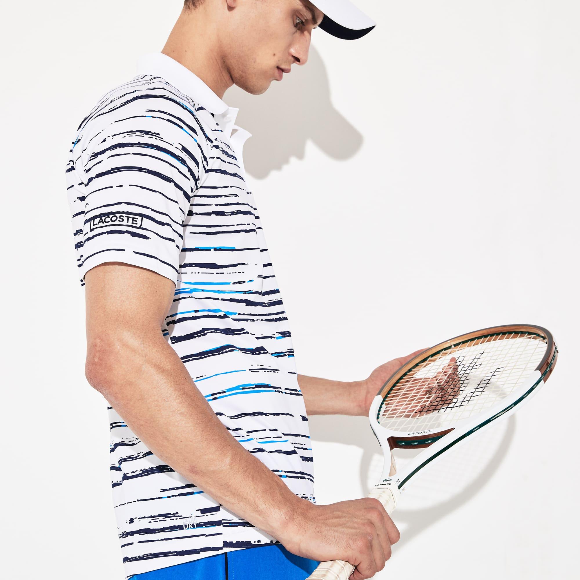 Kup online najlepiej sprzedający się najniższa zniżka Men's Lacoste SPORT x Novak Djokovic Print Jersey Polo Shirt ...