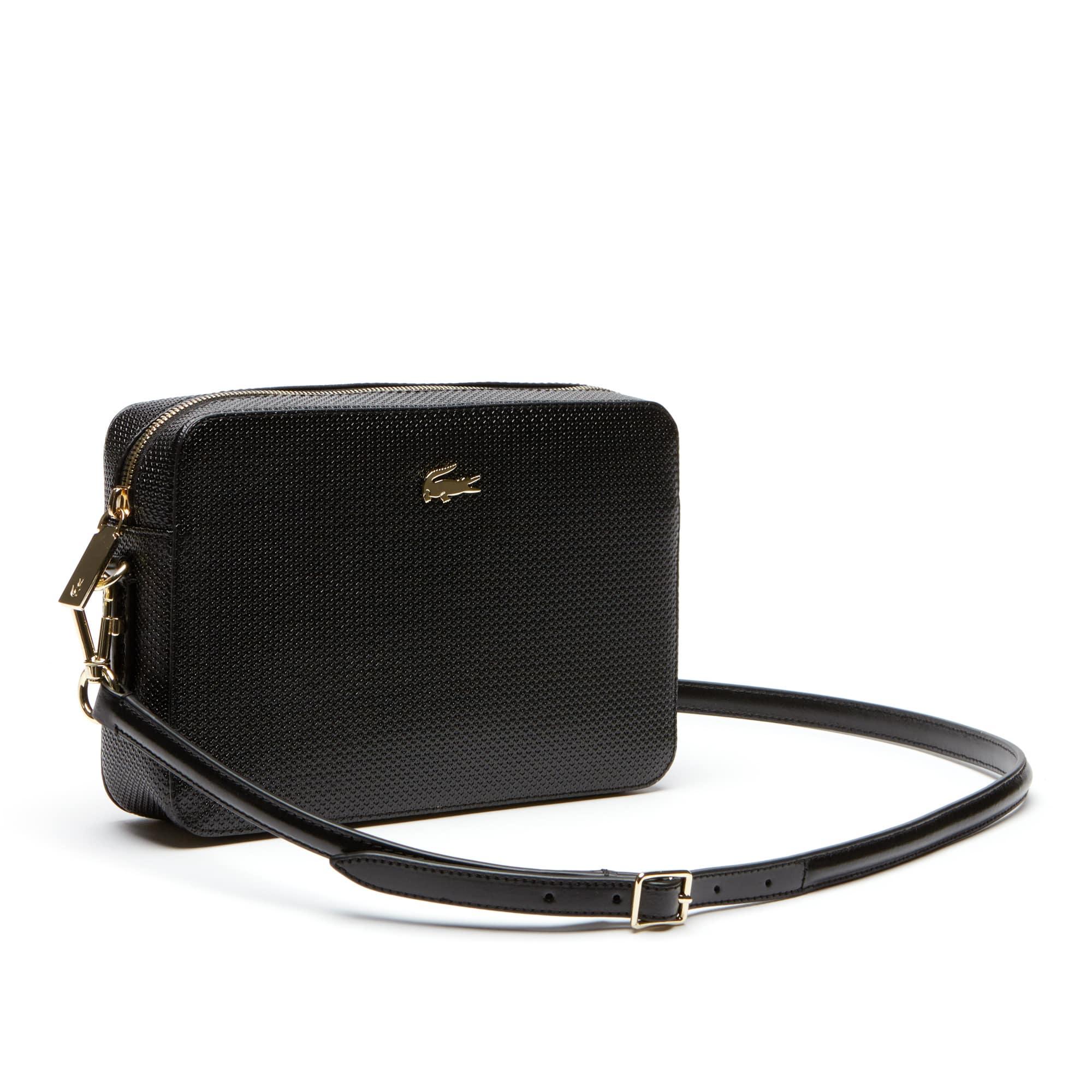99e616776685 Women s Chantaco Piqué Leather Square Crossover Bag. Colour   BLACK. Colour    BLACK