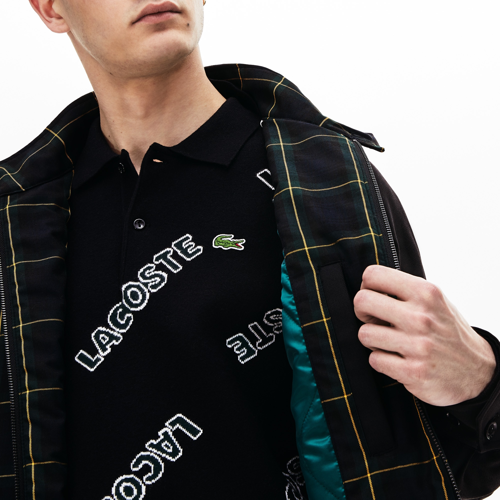 Men's Lacoste LIVE Check Harrington Jacket