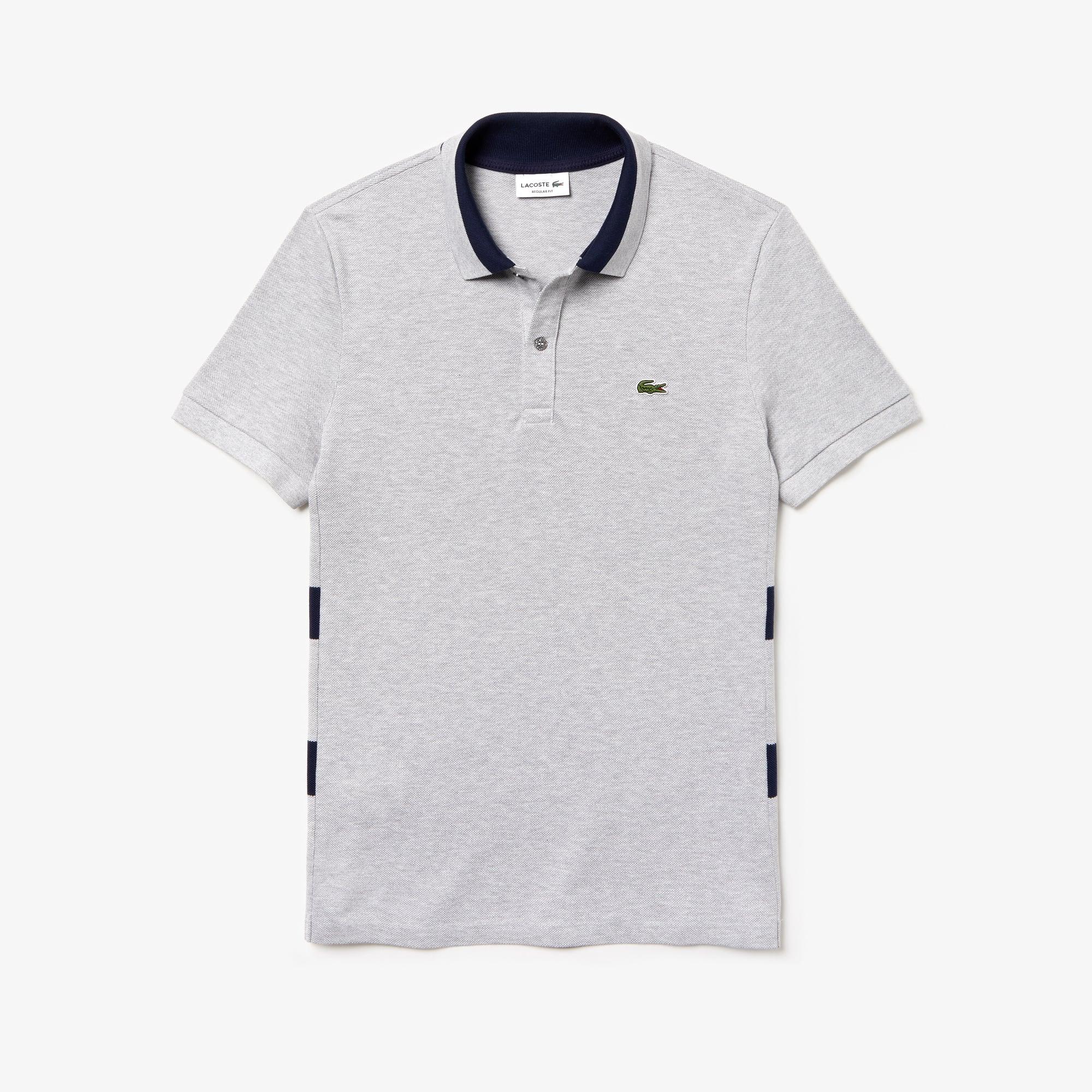 dd7a4b1d Men's Lacoste Regular Fit Striped Cotton Petit Piqué Polo Shirt ...