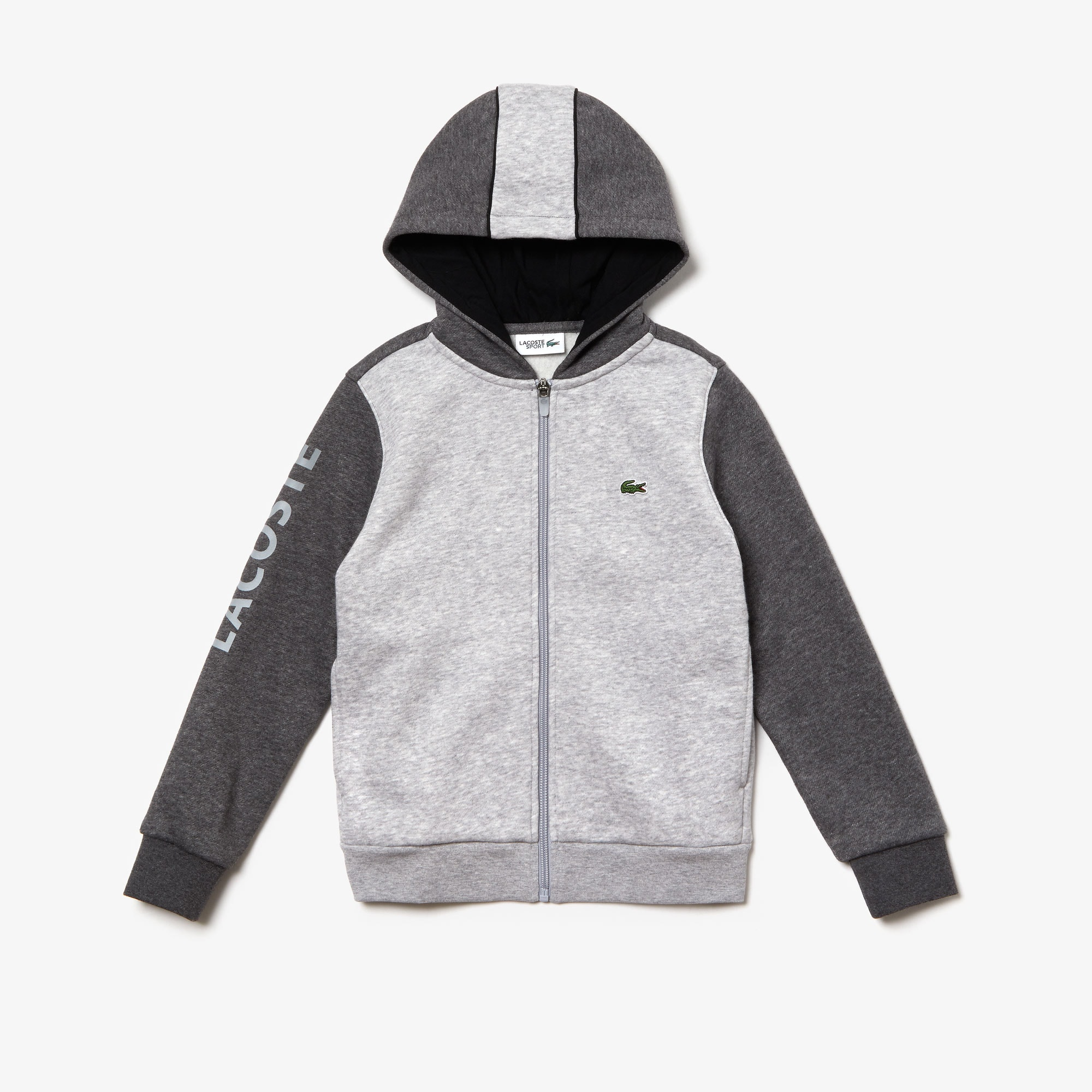 Boys' Lacoste SPORT Hooded Bicolour Fleece Sweatshirt