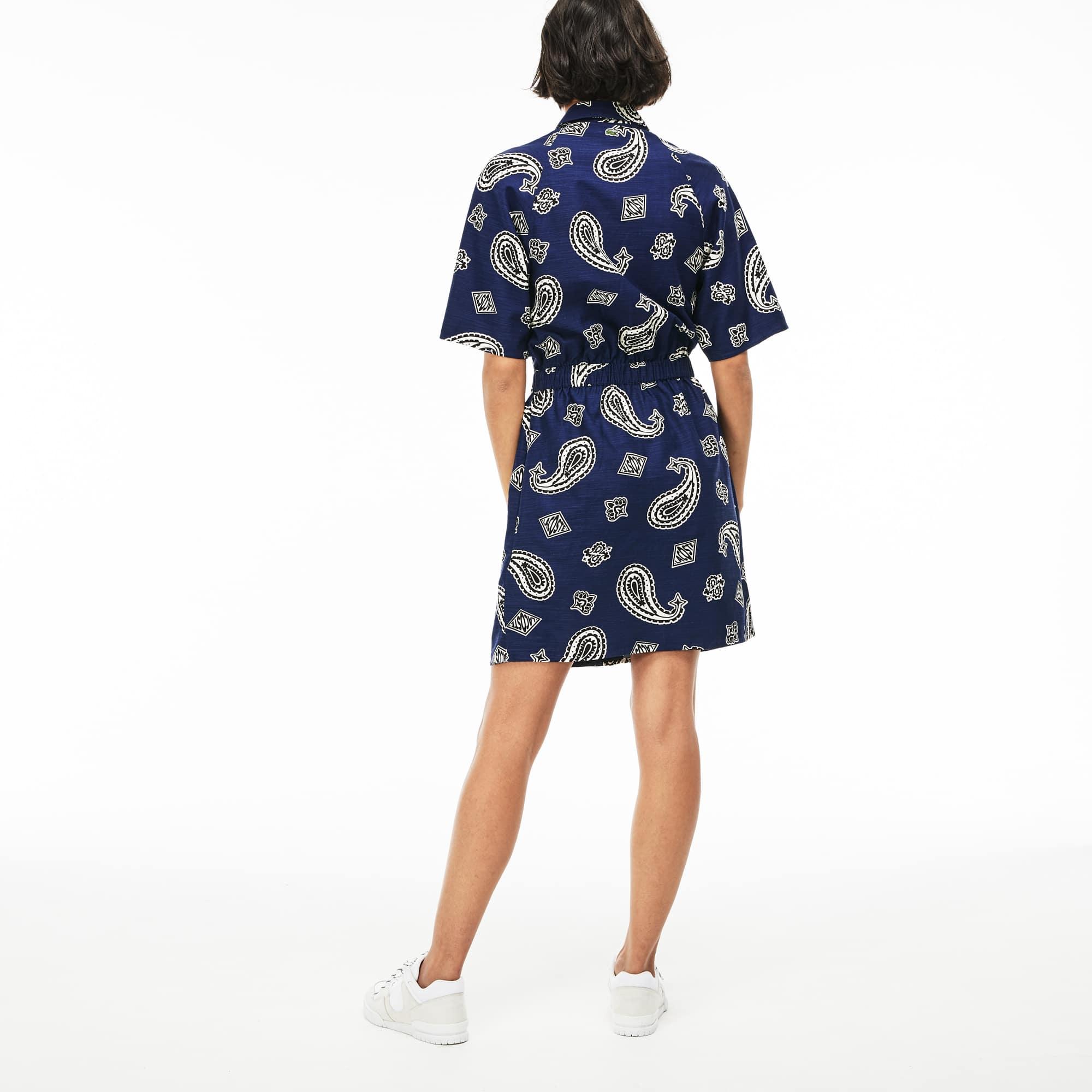 1310a7ac15e Women s Lacoste LIVE Paisley Print Canvas Shirt Dress