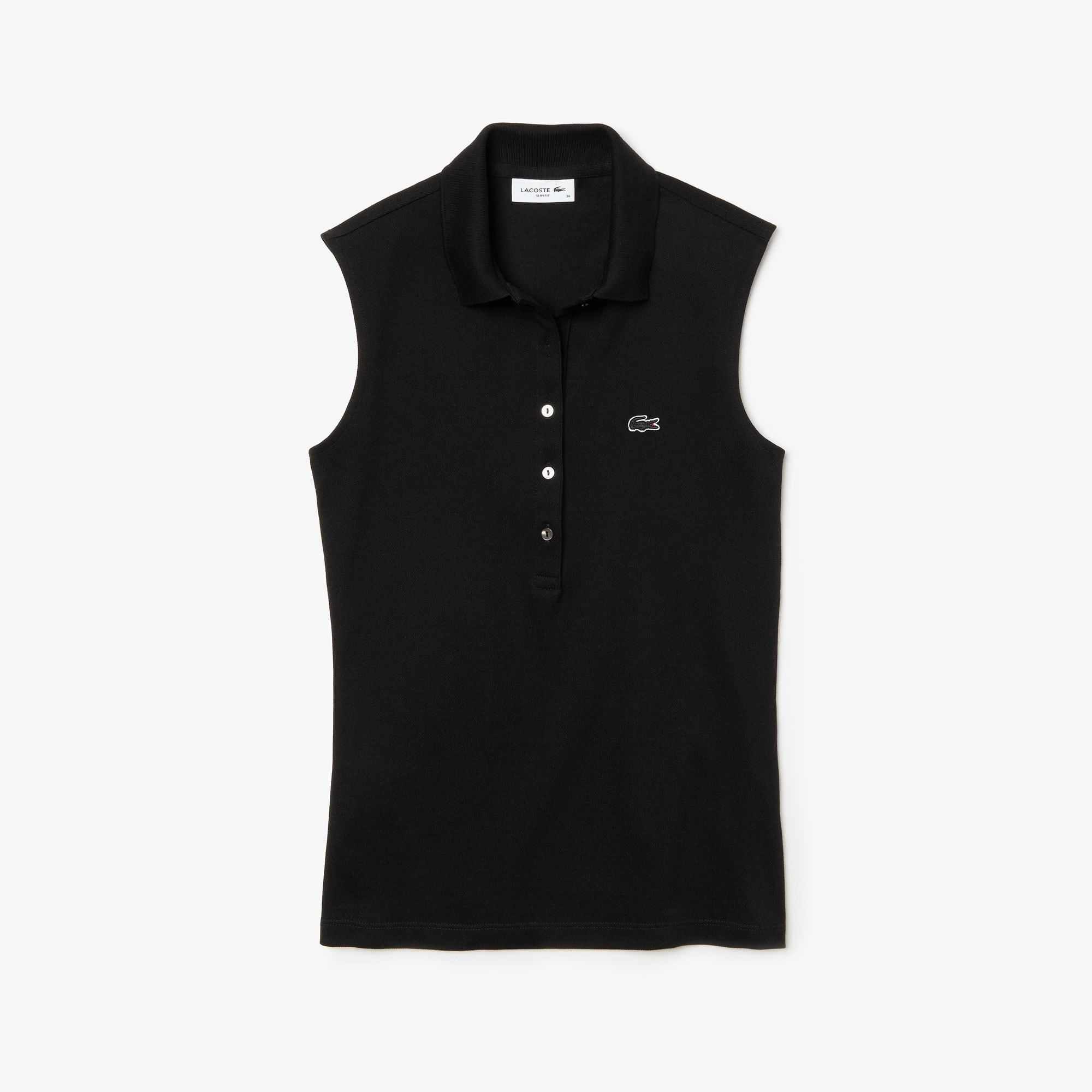 Women's Lacoste Slim Fit Stretch Mini Piqué Polo Shirt