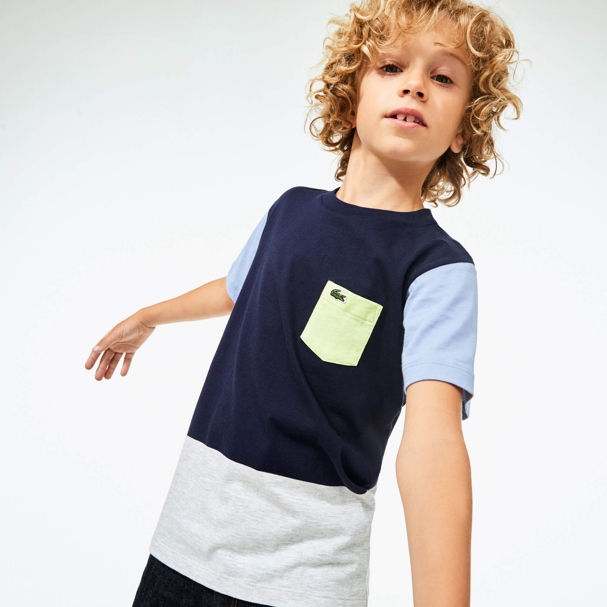 Boy's Cotton Colourblock T-shirt