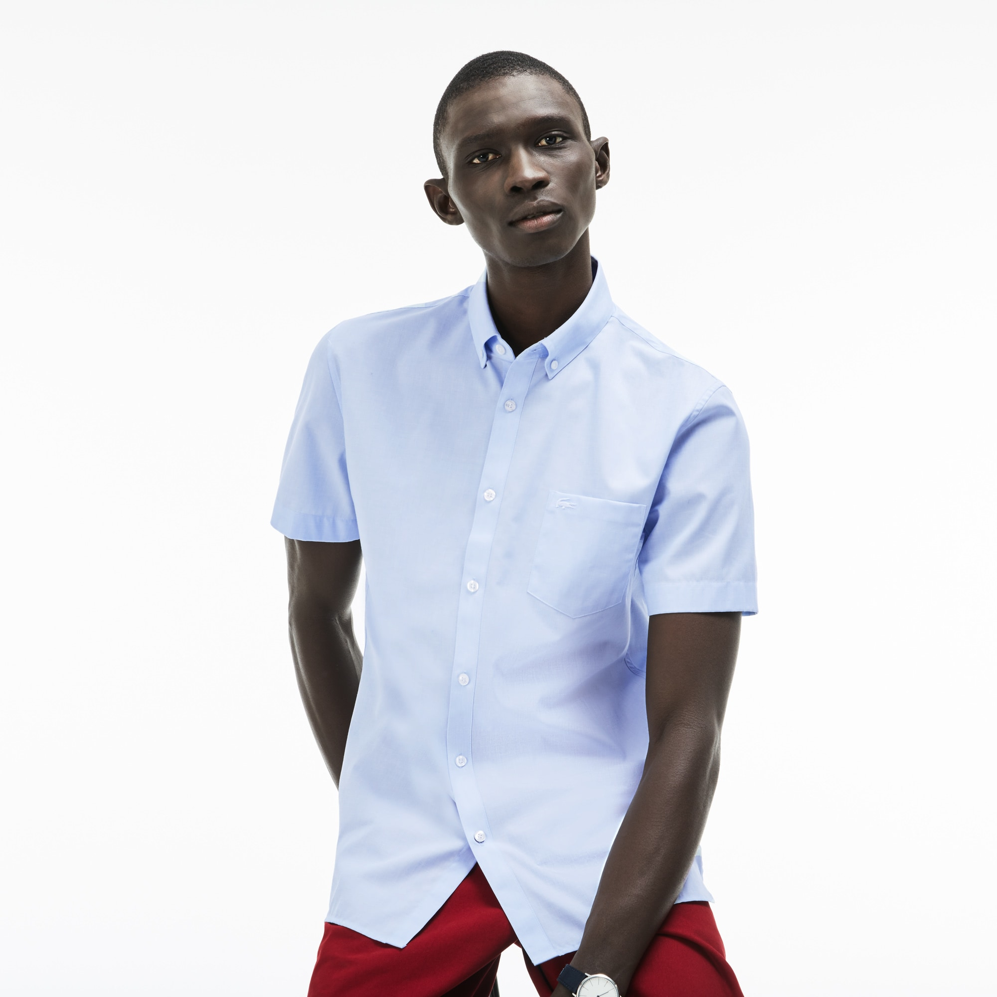 Men's Regular Fit Salt And Pepper Cotton Shirt