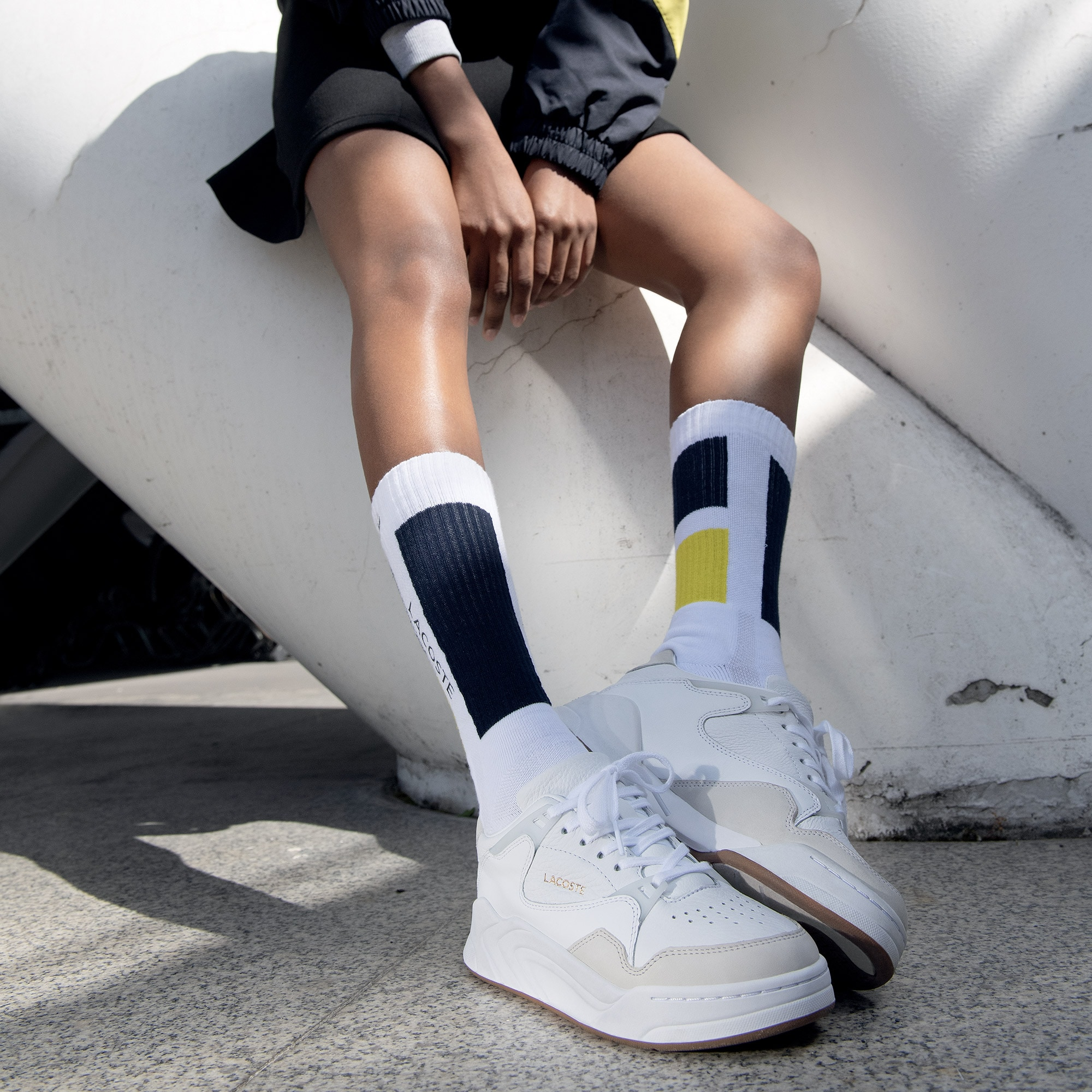 Court Slam Tonal Leather Trainers | LACOSTE