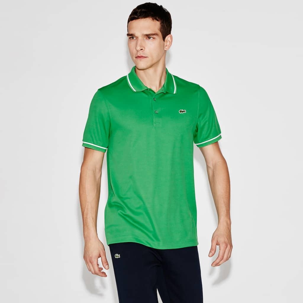 c37493ef Men's Lacoste SPORT Tennis Piped Technical Piqué Polo Shirt | LACOSTE