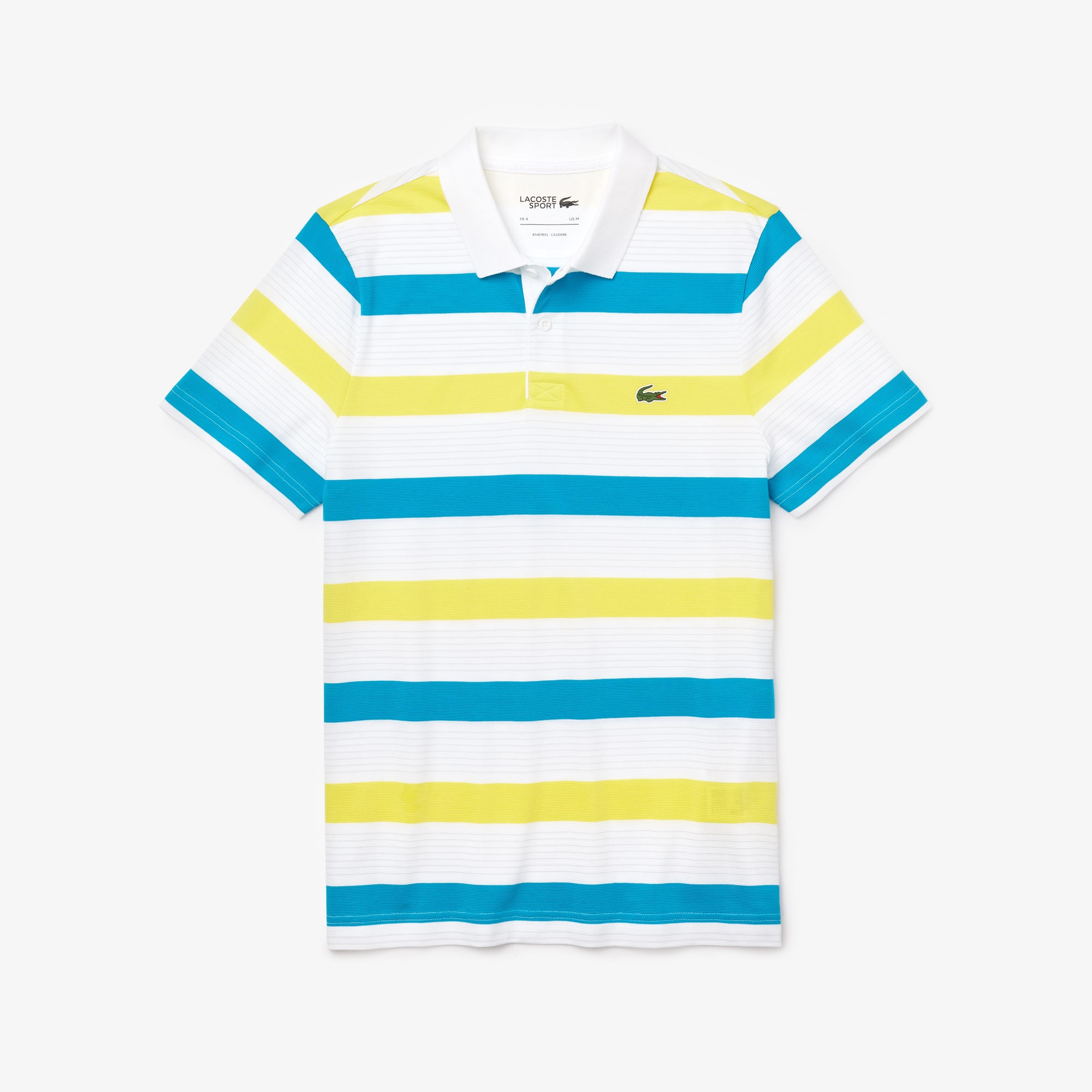 Men's Lacoste SPORT Striped Ultra-Light Cotton Polo Shirt