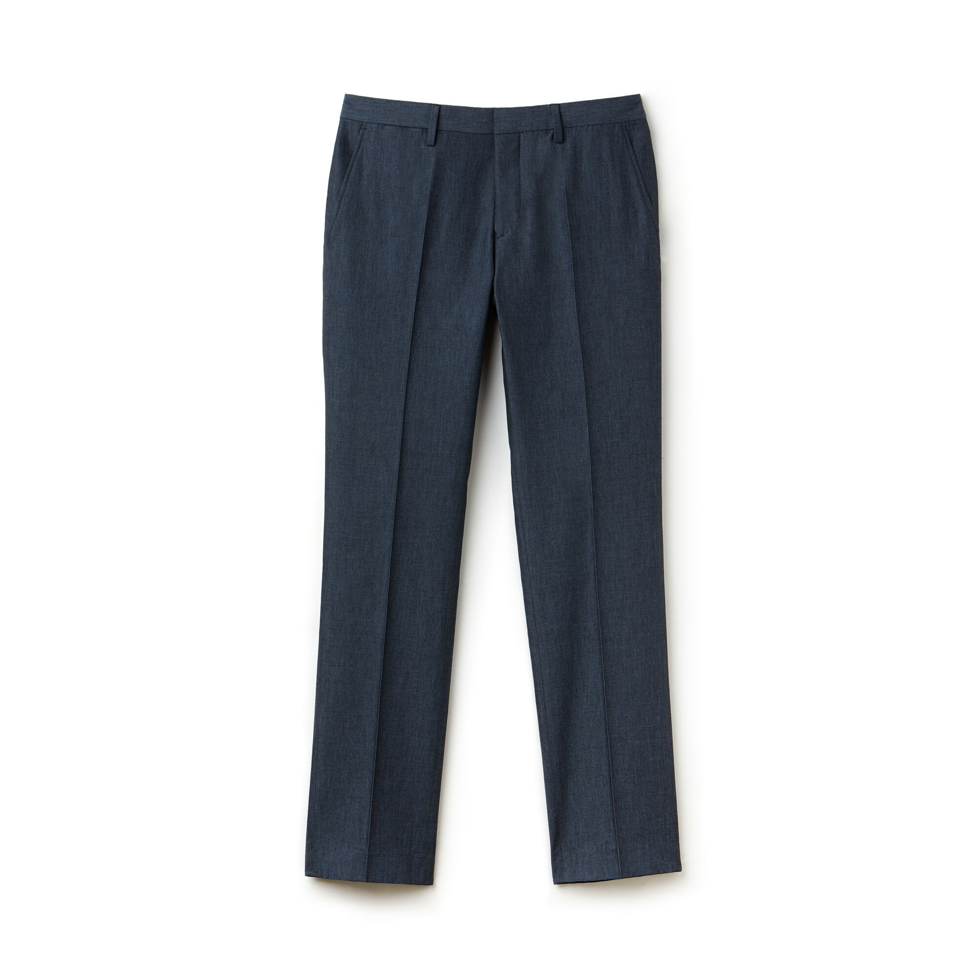 Men's Slim Fit Thick Cotton And Linen Canvas Pleated Chino Pants