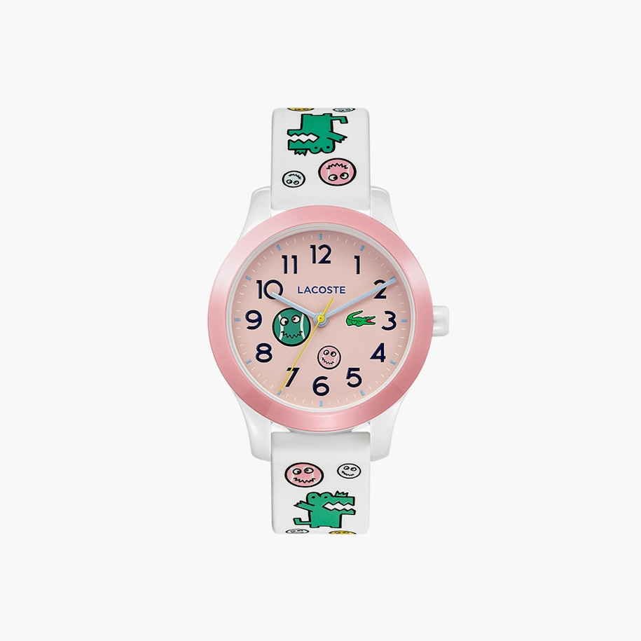 Lacoste.12.12 Kids 3 Hands Watch With White Silicone Strap