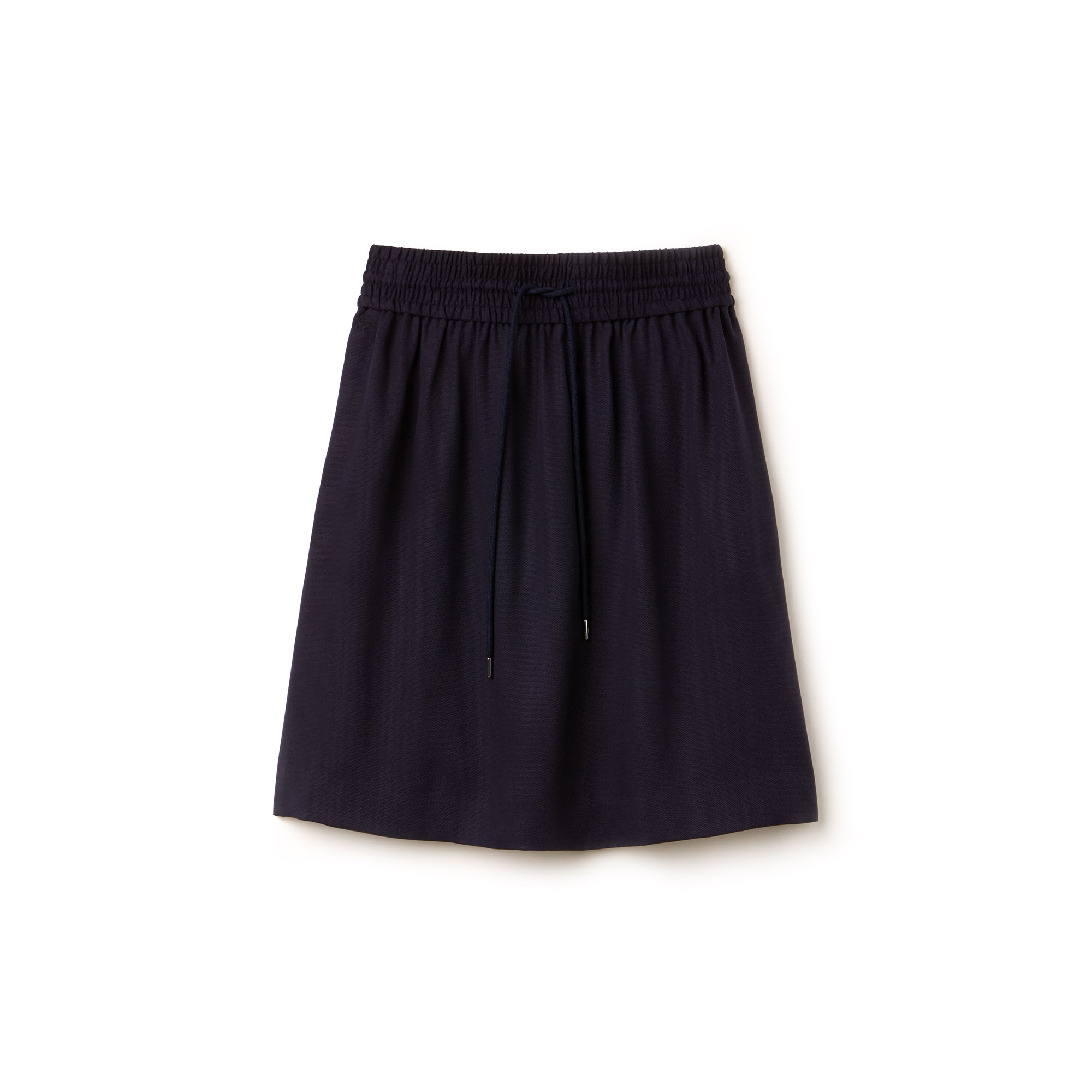Women's Elasticized Waistband Piqué Mid-Length Skirt
