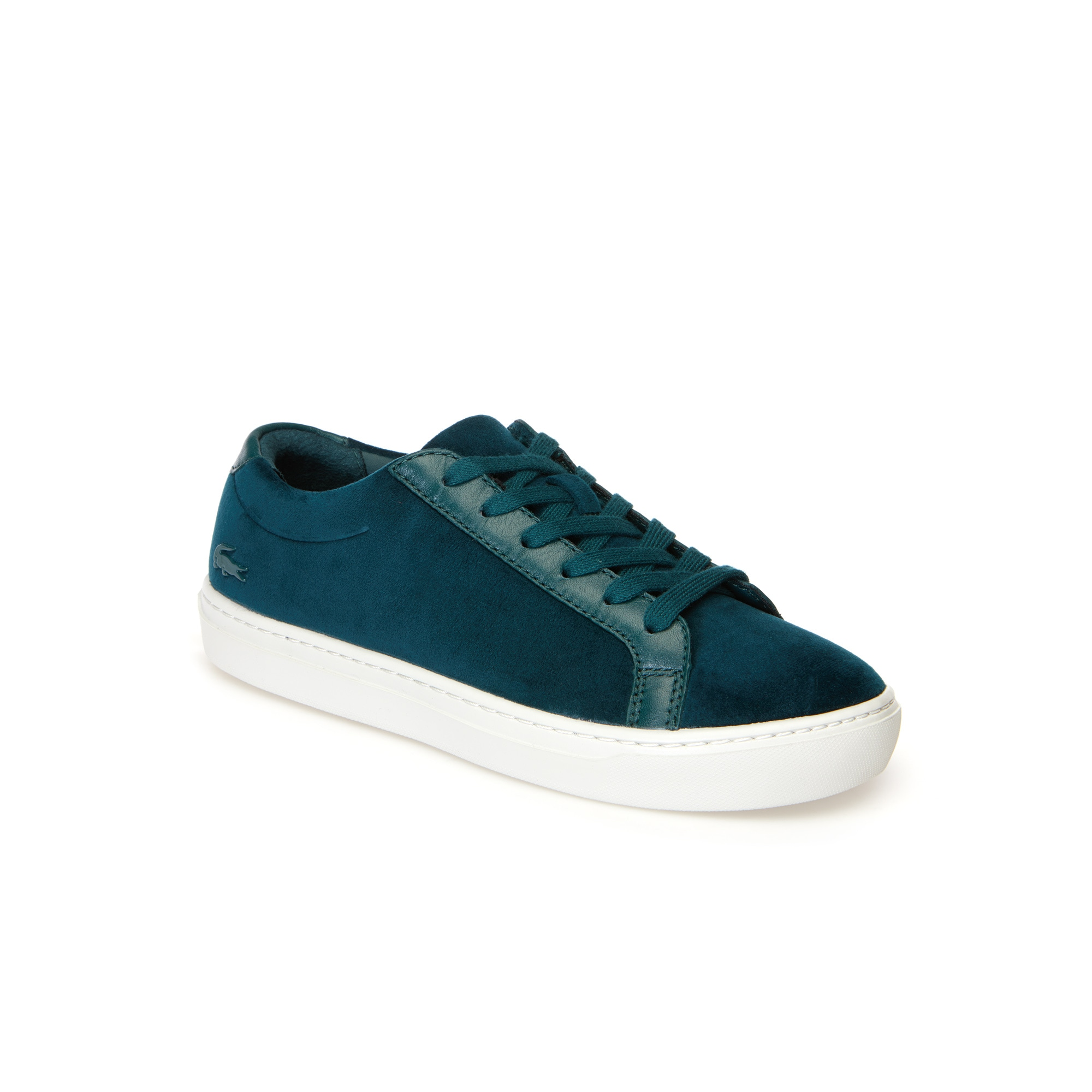 Women's L.12.12 Light-WT Velvet and Leather Trainers