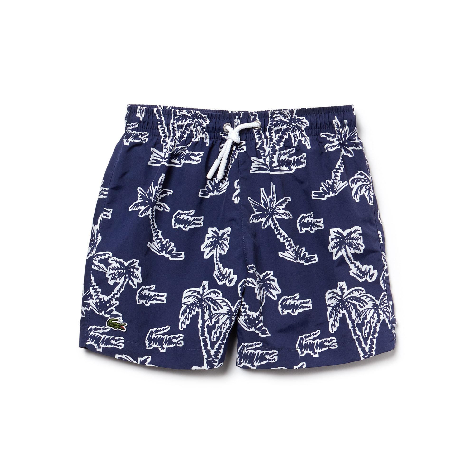 Boys' Palm Print Canvas Swimming Trunks