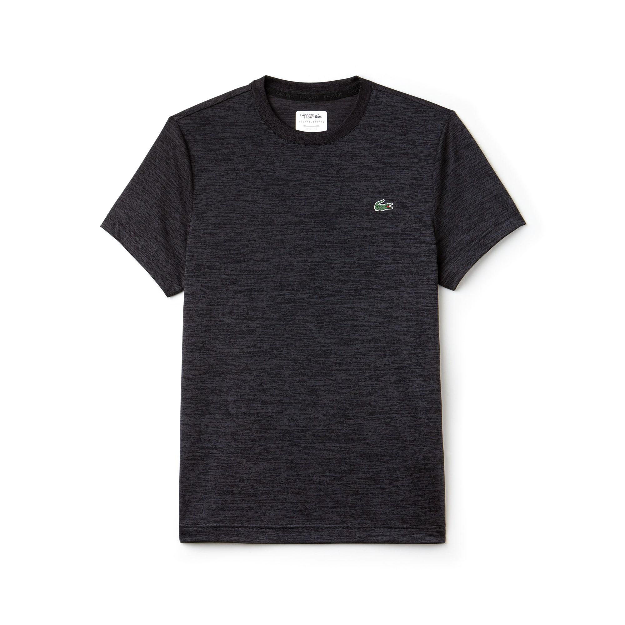 Men's Lacoste SPORT Tennis Crew Neck Tech Jersey & Mesh T-shirt