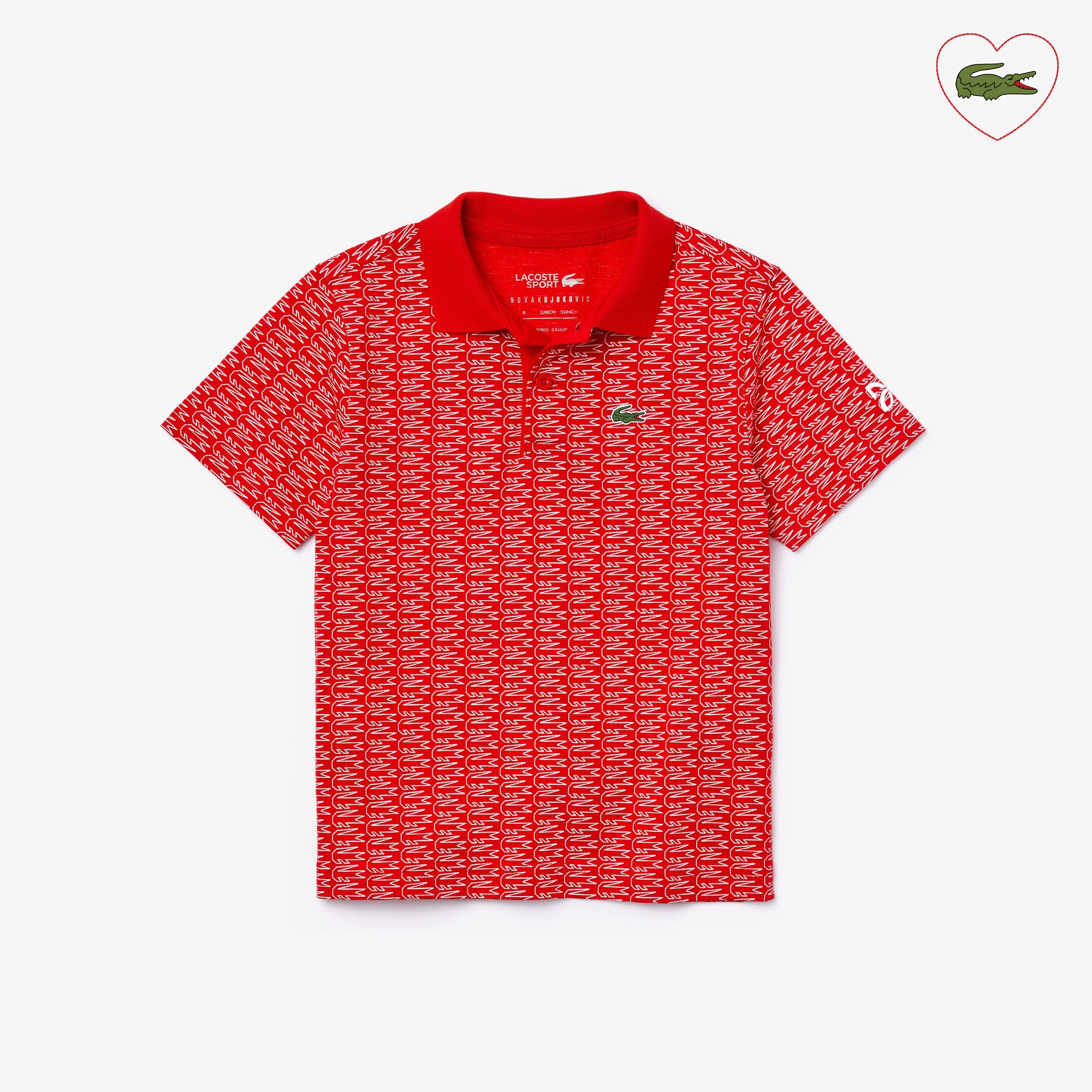 Boys' Lacoste SPORT x Novak Djokovic Crocodile Print Polo Shirt