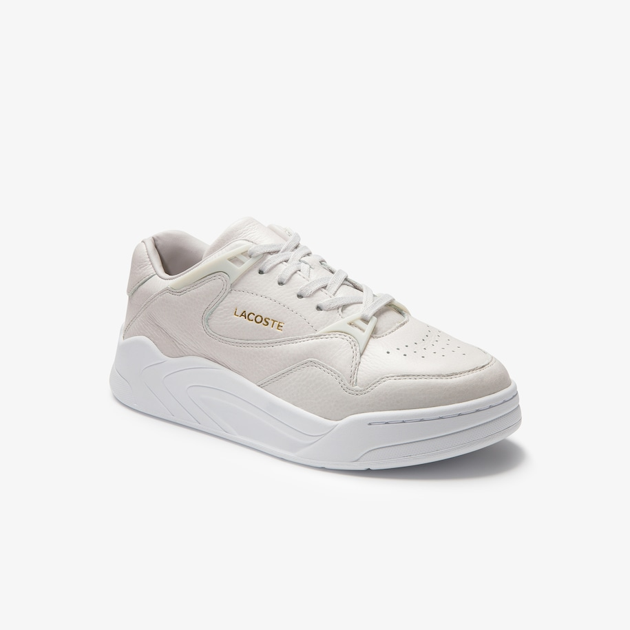 Women's Court Slam High-shine Leather Trainers