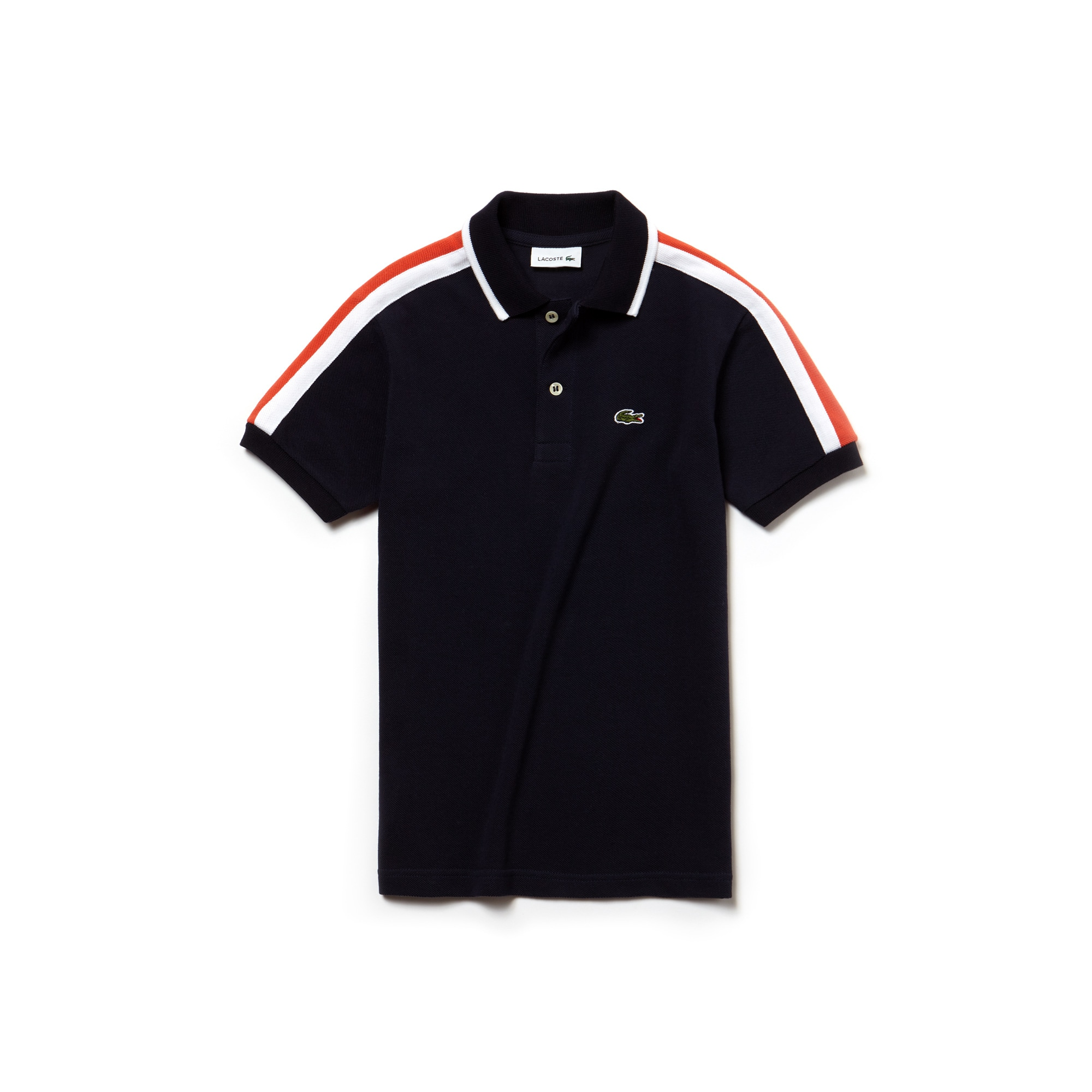 Boys' Lacoste Colorblock Bands Petit Piqué Polo