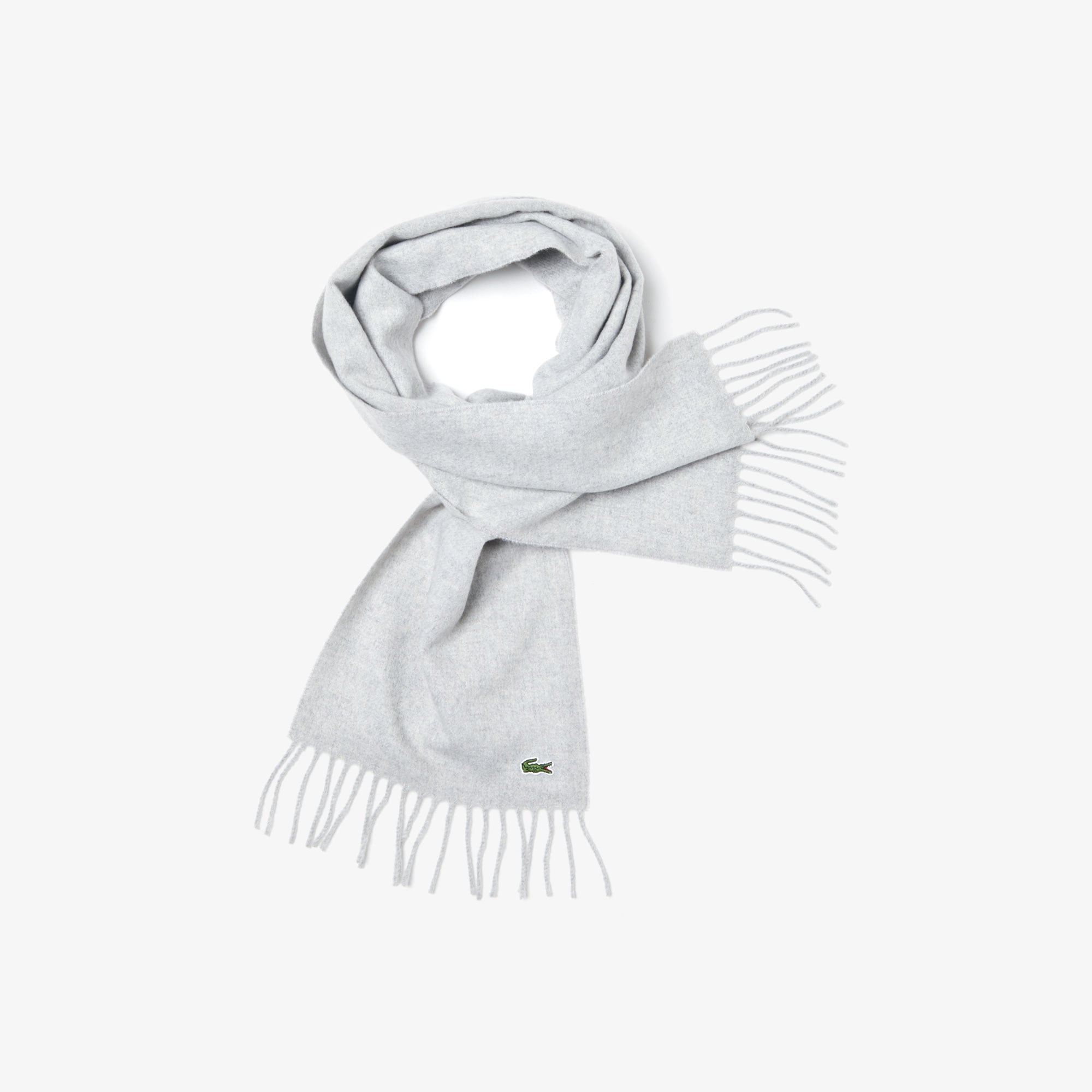 Lacoste Girls Wool Cashmere Blend Pique Knit Scarf