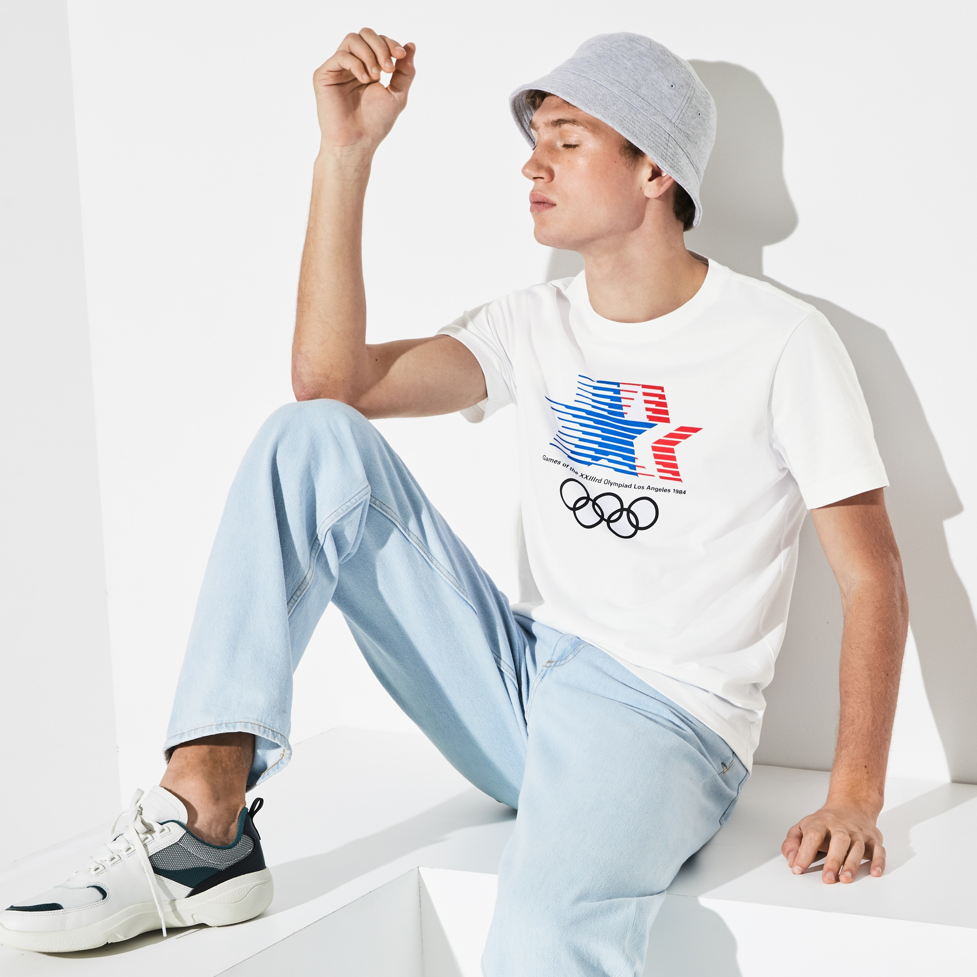 ab47be79d4 Men's Olympic Heritage Collection By Lacoste Crew Neck T-shirt | LACOSTE