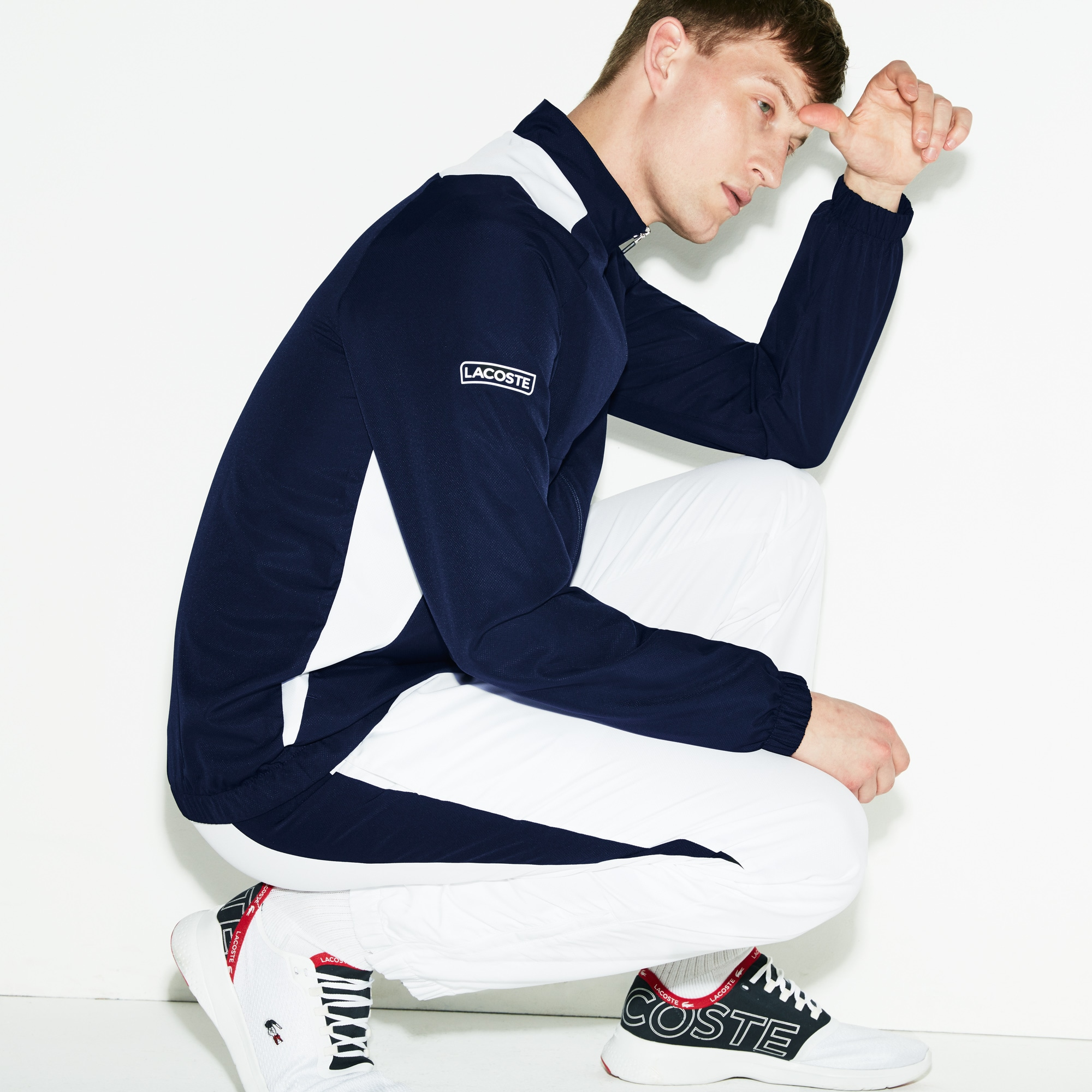 Men's Lacoste SPORT Colourblock Panel Tennis Sweatsuit