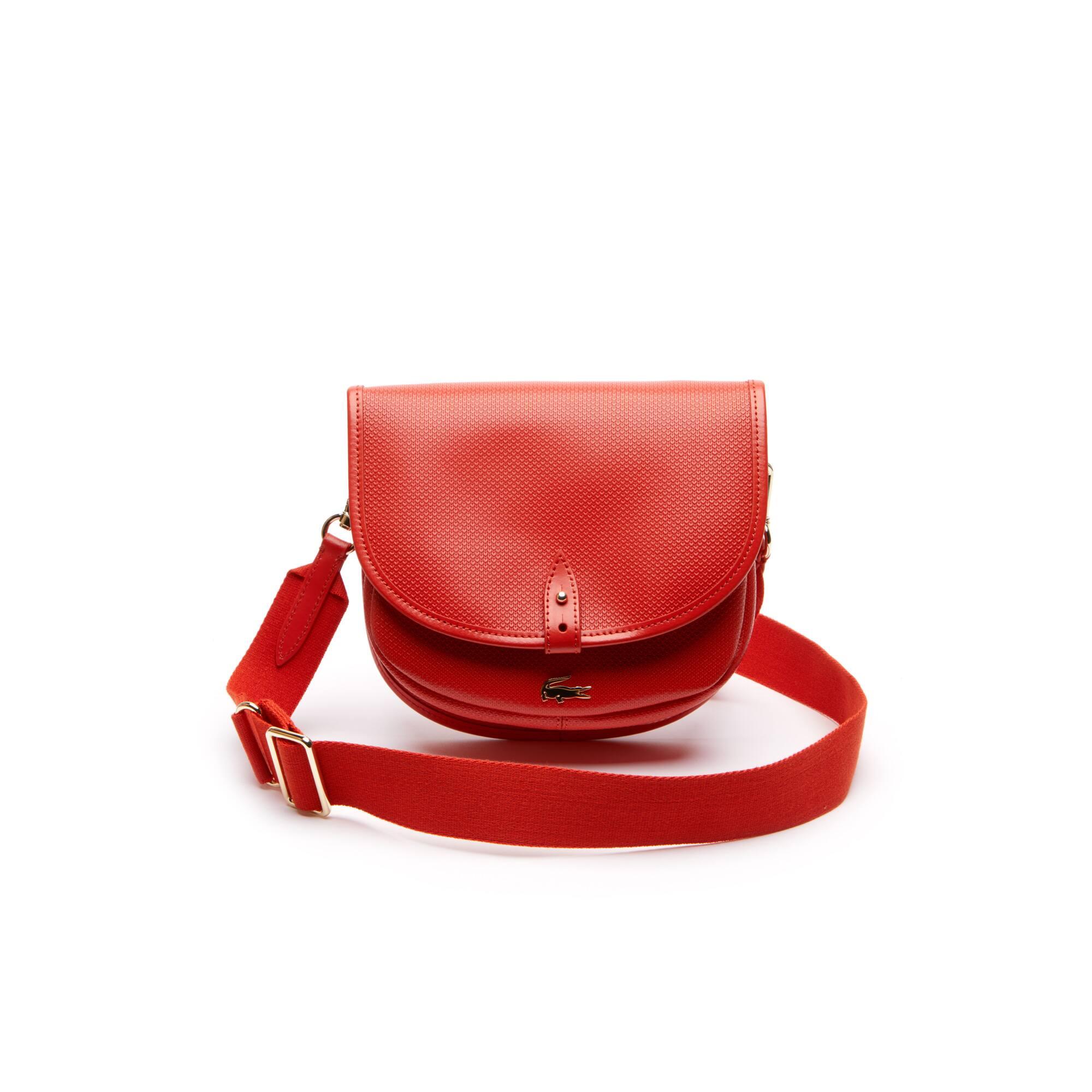 e94b00ac121 Women's Chantaco Piqué Leather Flap Crossover Bag. Colour : ORANGE.COM