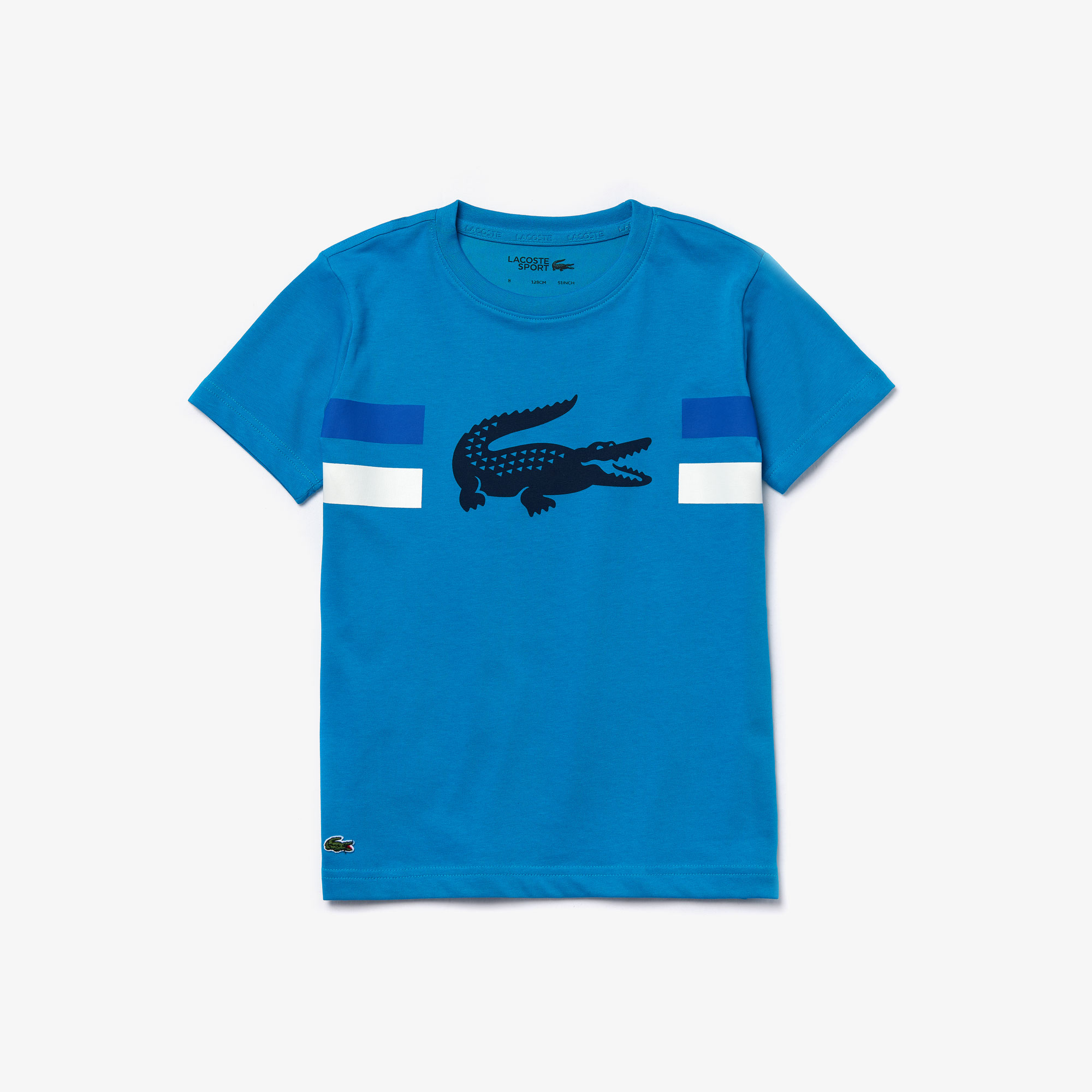 Boys' Lacoste SPORT Crocodile Breathable Jersey T-Shirt