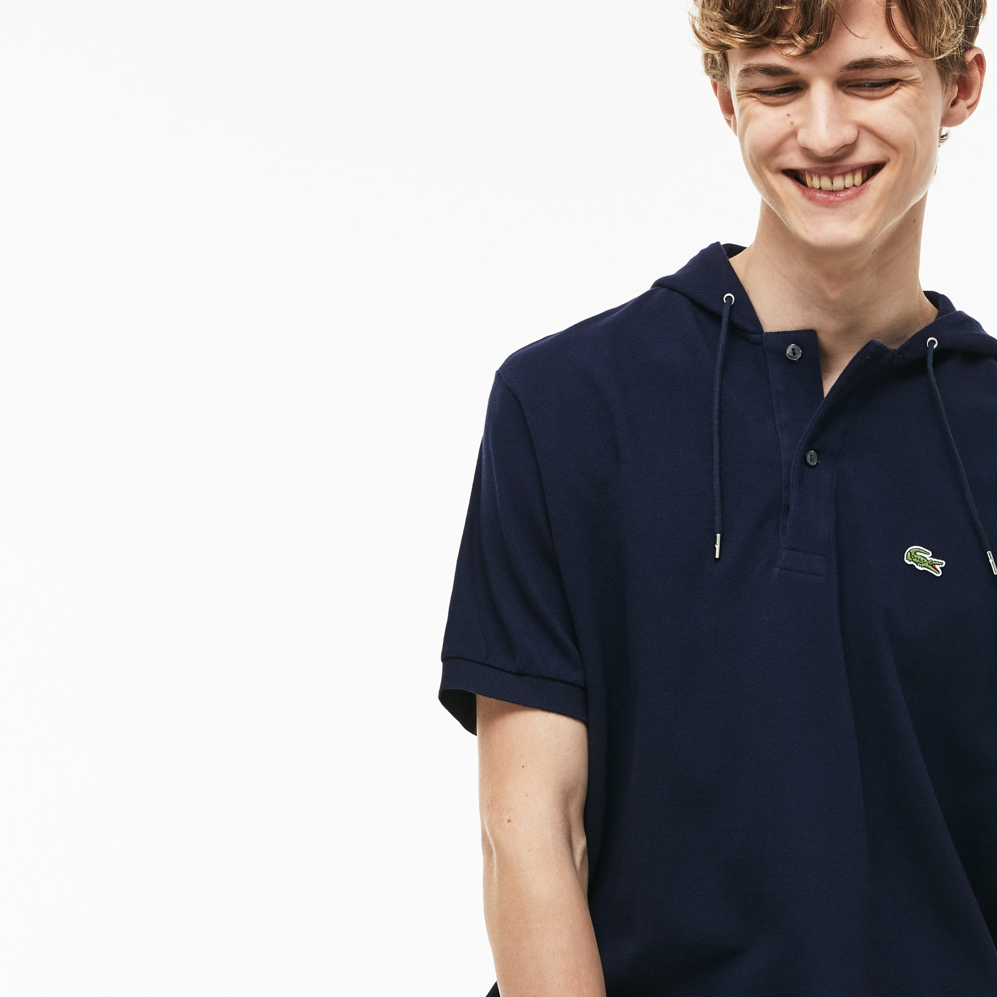 Men's Lacoste Relaxed Fit Faded Petit Piqué Polo Shirt