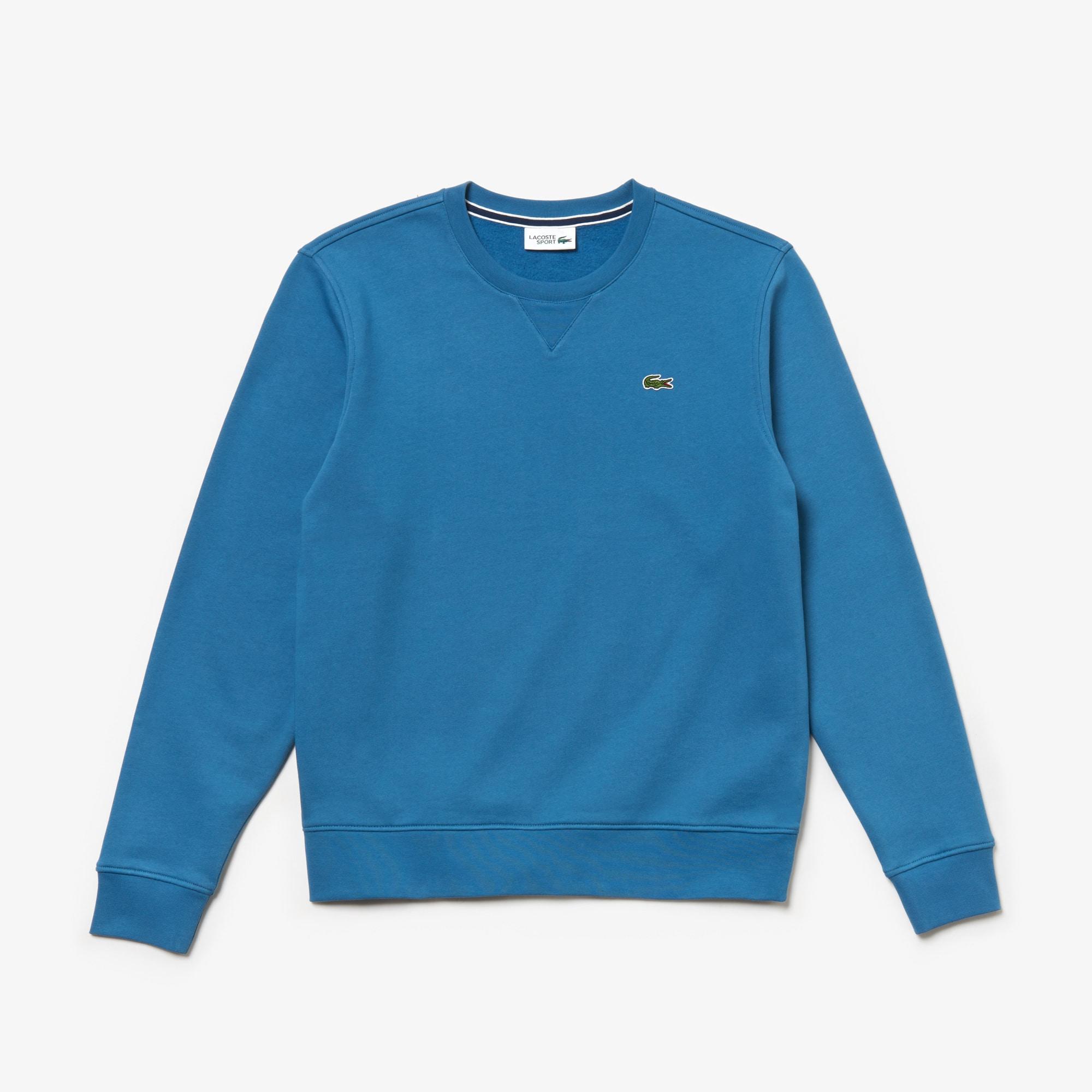 Solid Neck Fleece Men's Crew Lacoste Sport Sweatshirt In OkiuPXTwZ
