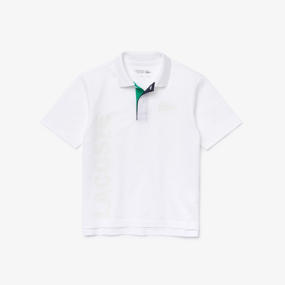Boys' Lacoste SPORT Lettered Ultra-Lightweight Knit Polo Shirt