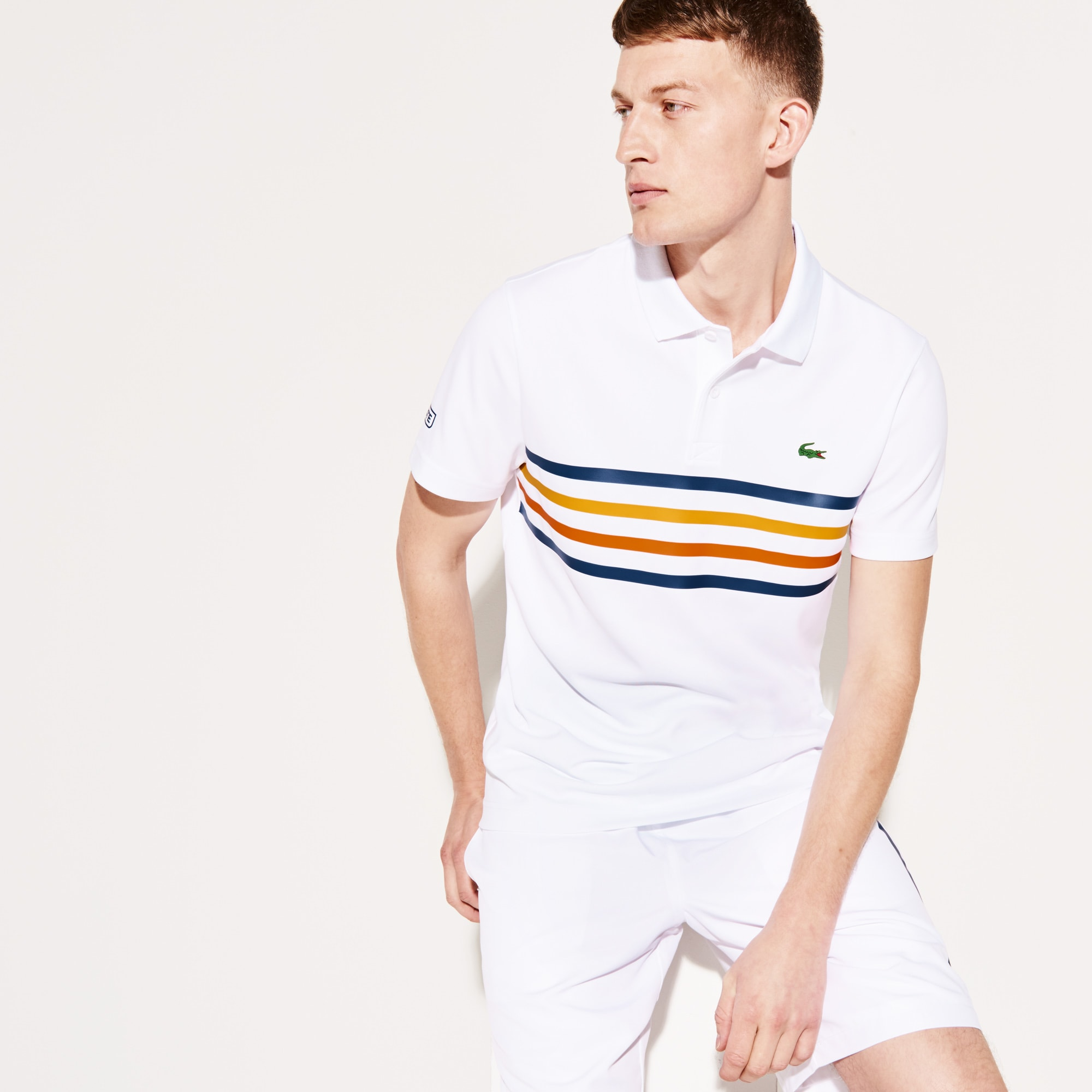 Men s Lacoste SPORT Colored Bands Technical Piqué Tennis Polo ... 1773e59e41