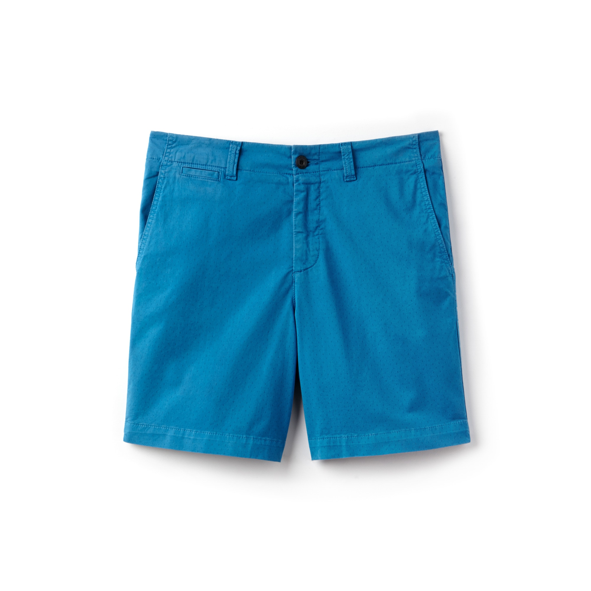 Men's Regular Fit Mini Print Stretch Cotton Twill Bermuda Shorts