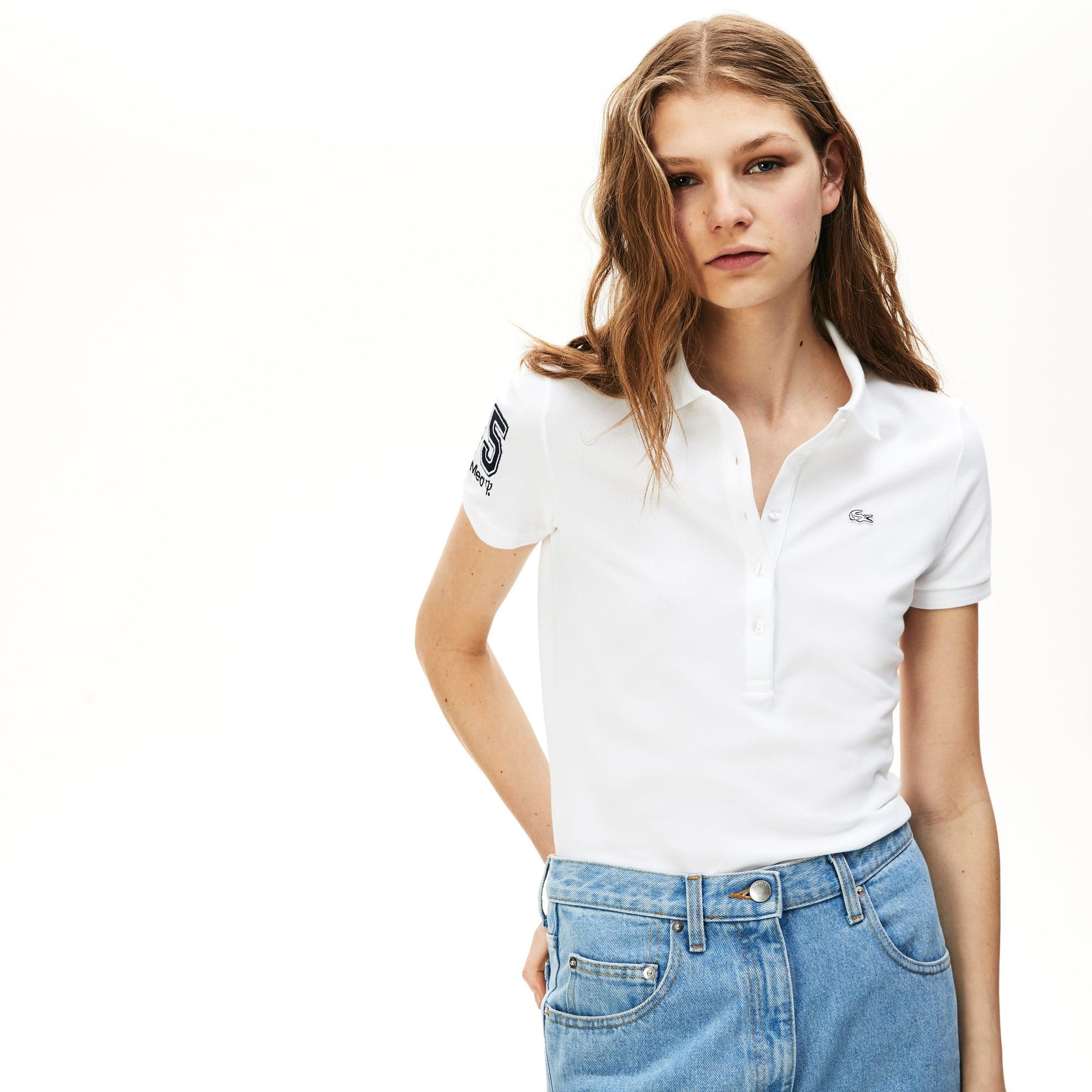 8ef98c8c452a2 Women s Lacoste Slim Fit Stretch Mini Piqué Polo Shirt · + 3 colors