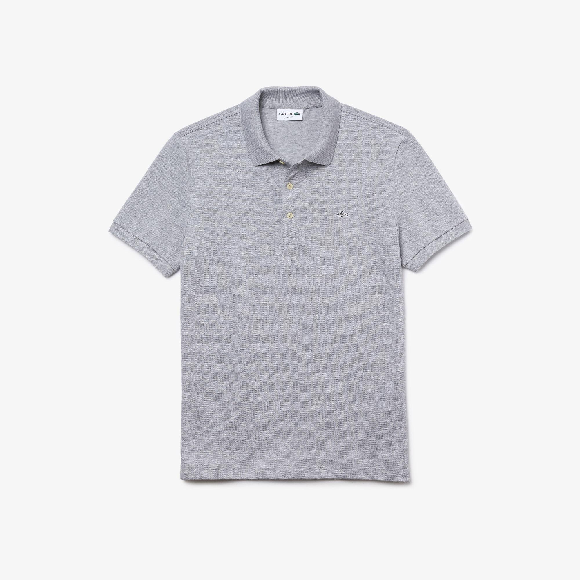 605b6d36 Men's Slim fit Lacoste Polo Shirt in stretch petit piqué ...