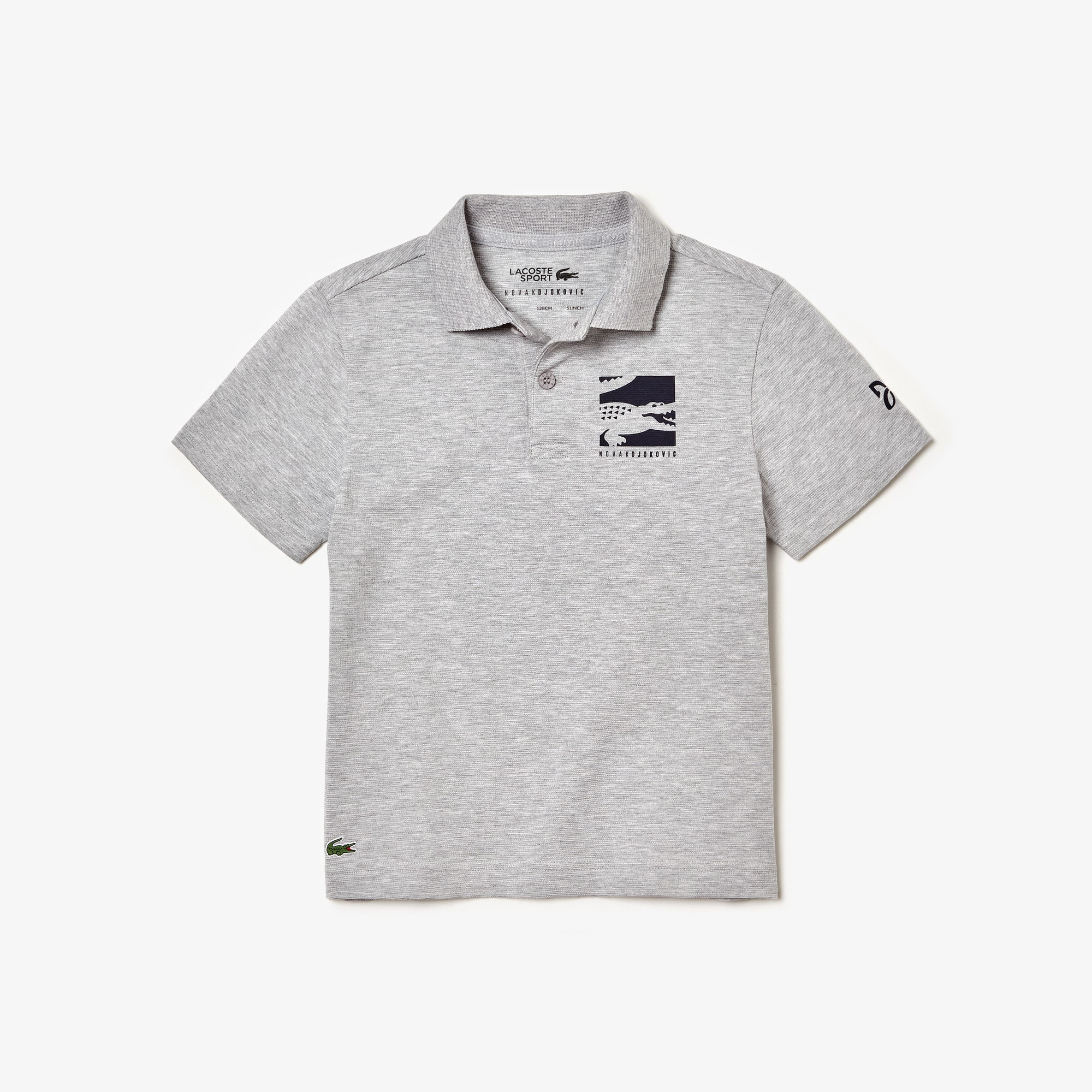 Boys' Lacoste SPORT x Novak Djokovic Badge Cotton Polo Shirt