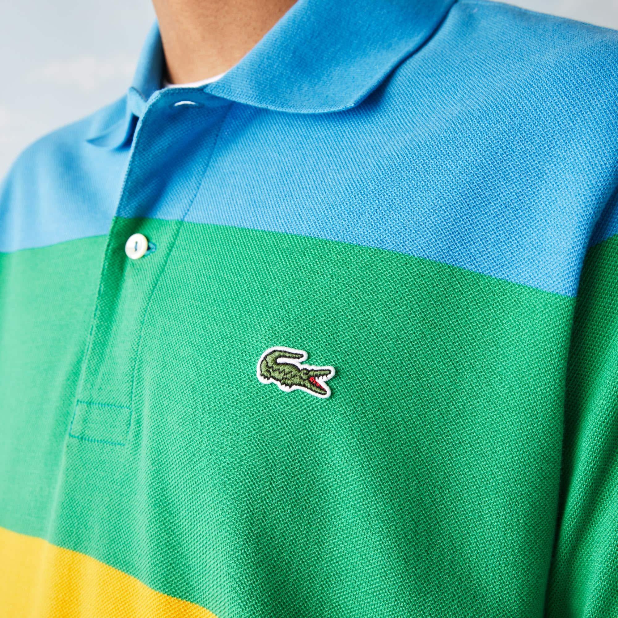 Men's Lacoste x Polaroid Colour Striped Classic Fit Polo Shirt