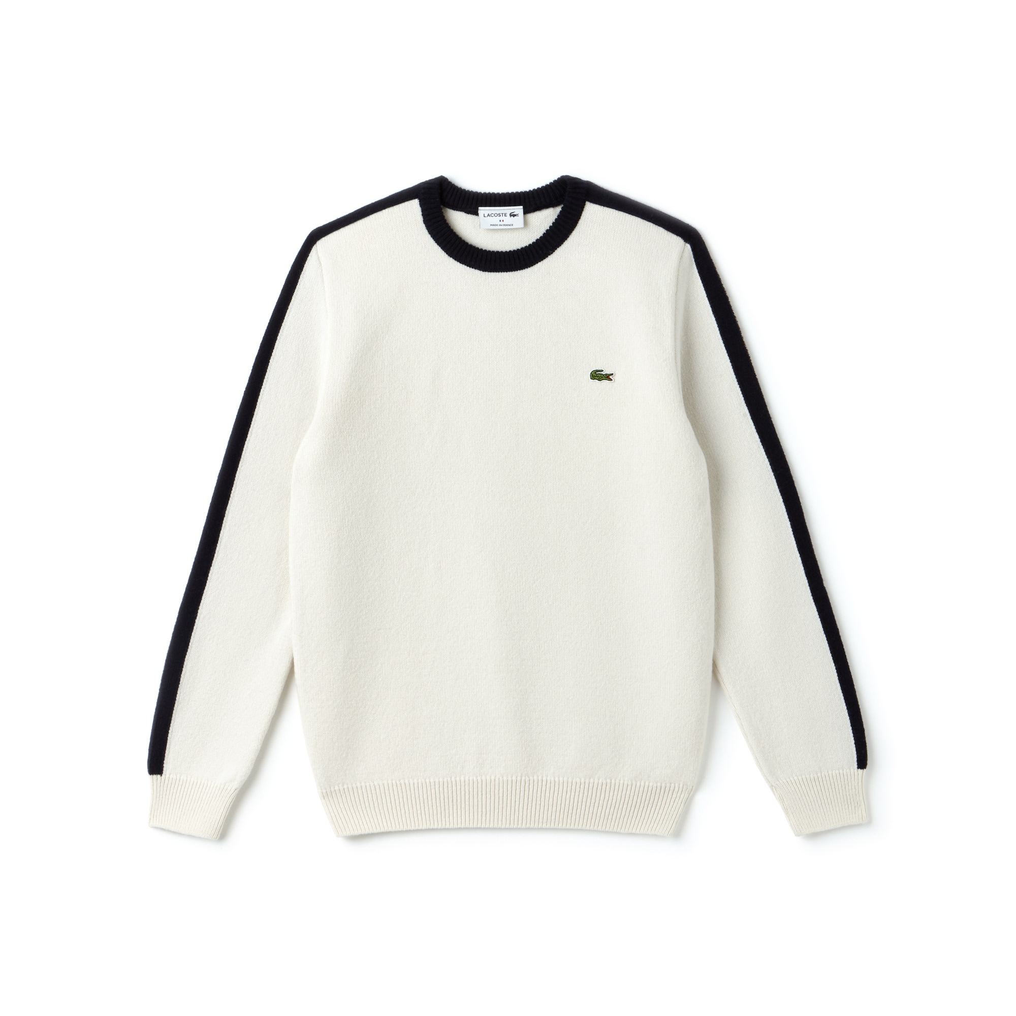 Men's Made In France Crew Neck Contrast Band Jersey Sweater