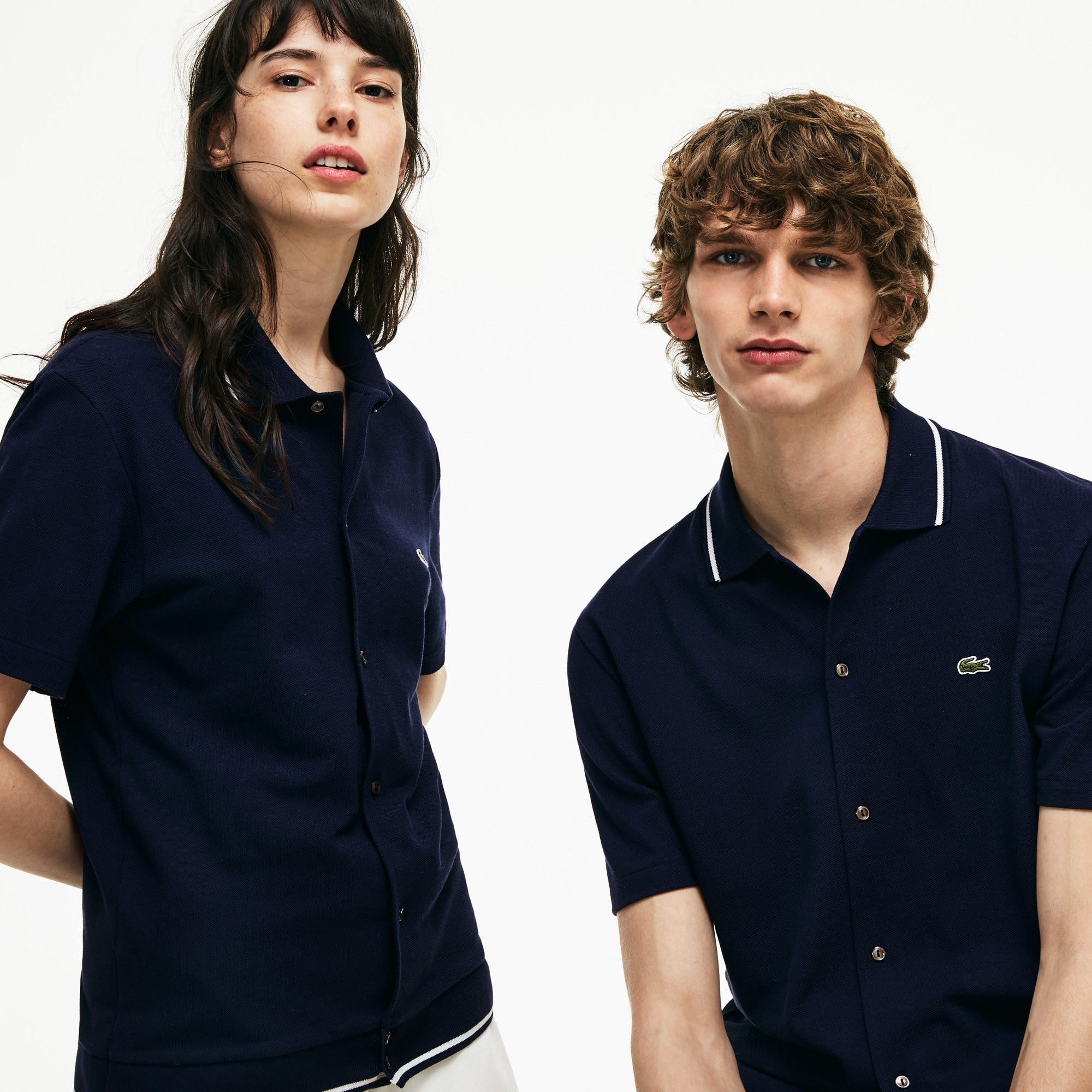 Unisex Lacoste 1960s Revival 85th Anniversary Limited Edition Buttoned Polo Shirt