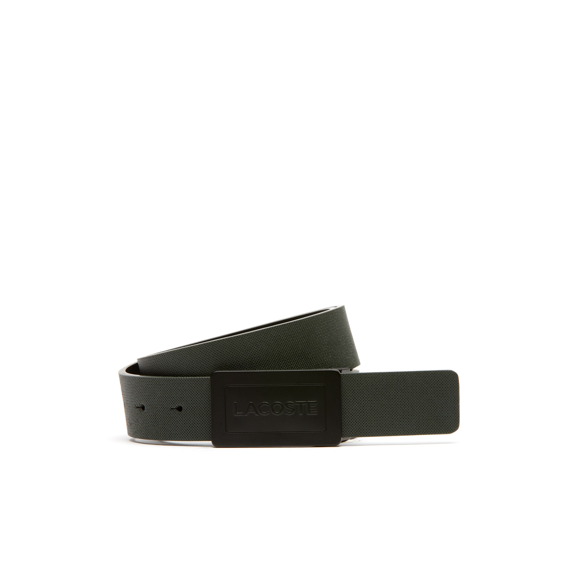 EDWARDS reversible belt in petit piqué embossed leather