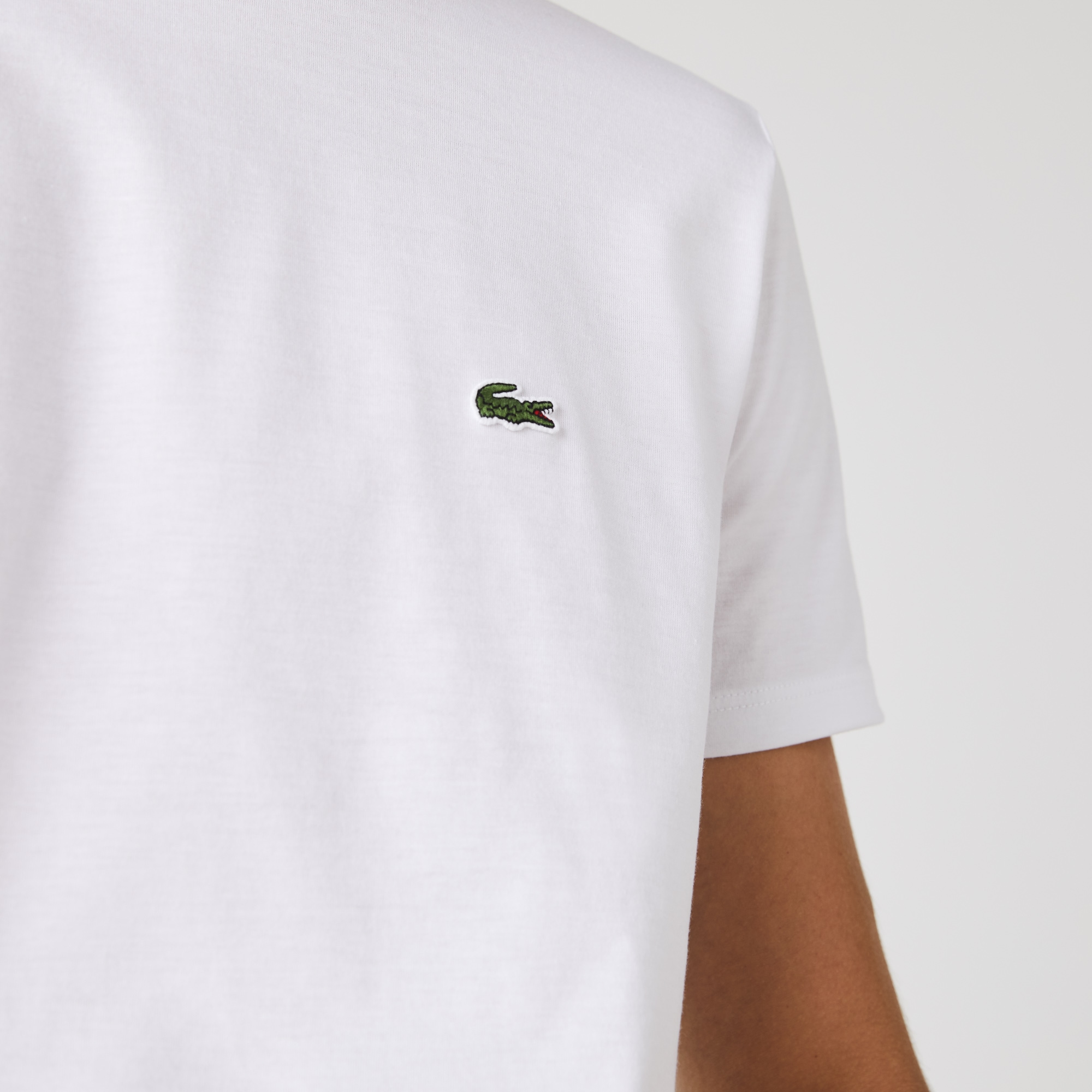 Authentic Lacoste Men/'s TH6709 Pink 100/% Pima Crewneck SS Tee  T-Shirt Shirts