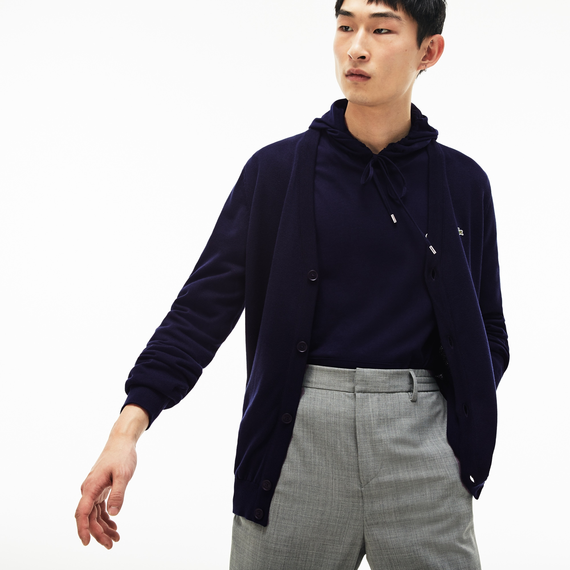 e47371a0a1 Men's Cotton Jersey Cardigan | LACOSTE
