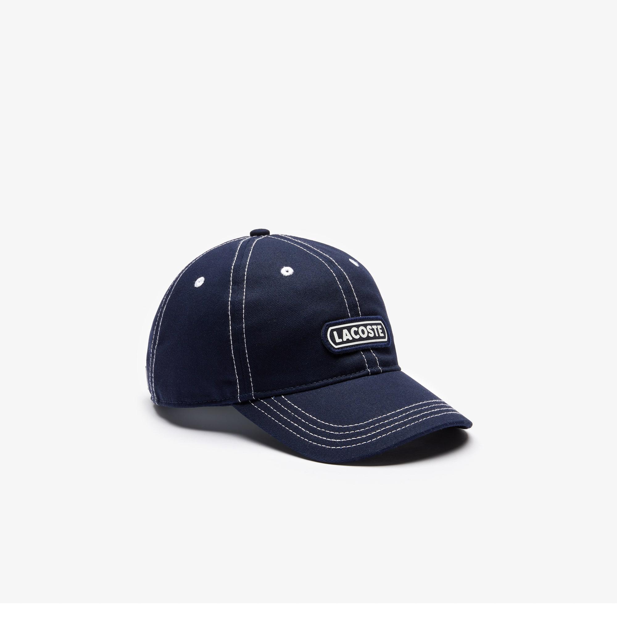 Boys' Lacoste Badge Cotton Cap