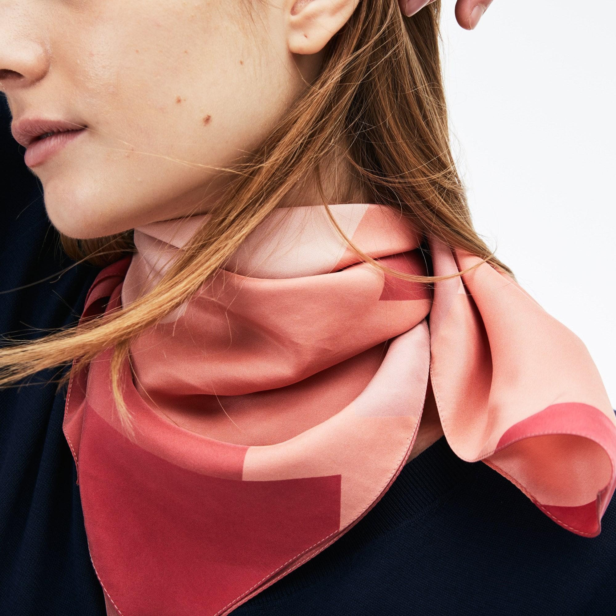 Women's Colorblock Silk Voile Bandana