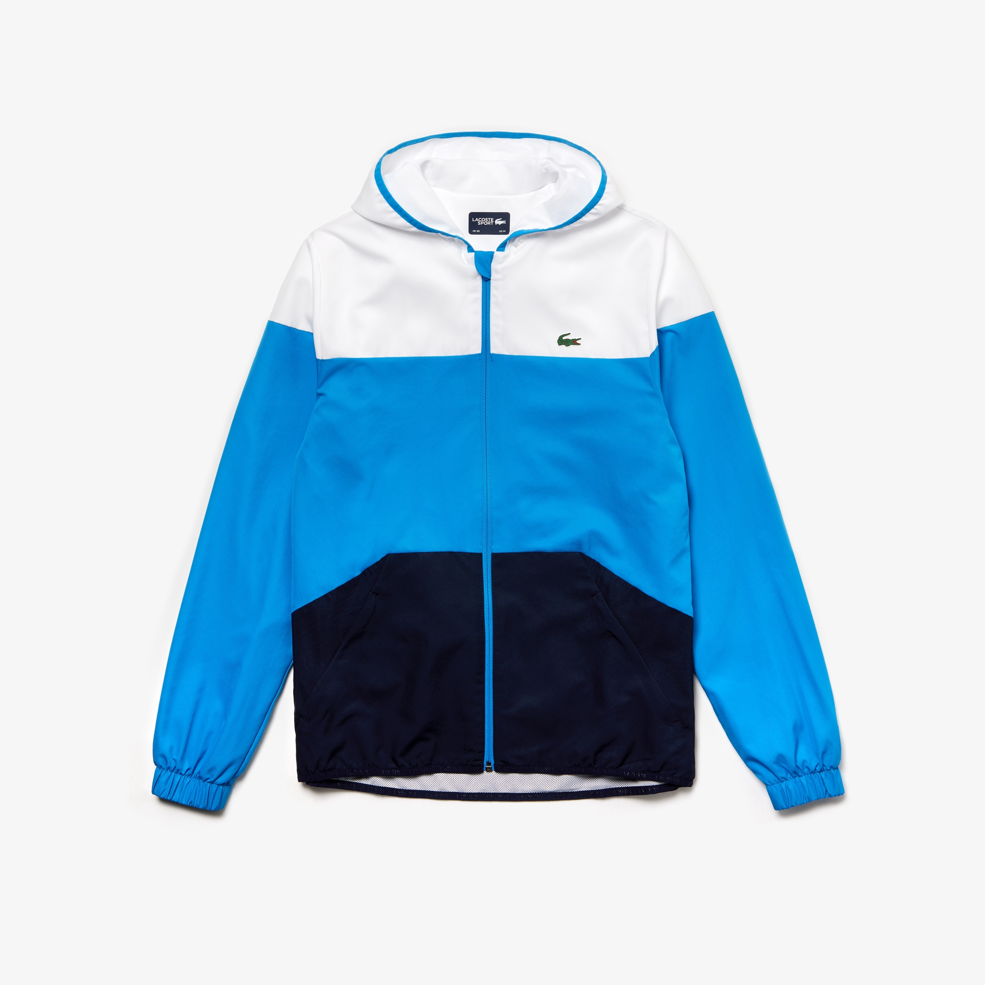 Men's Lacoste SPORT Hooded Colourblock Tennis Jacket